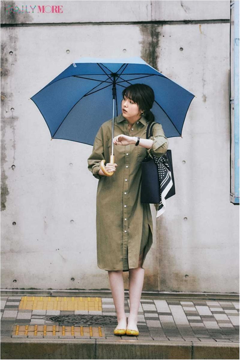 【今日のコーデ】忙しい日は迷わずシャツワンピ! 「楽なのにきれい」は雨の日も蒸し暑い日も有効だから♪_1