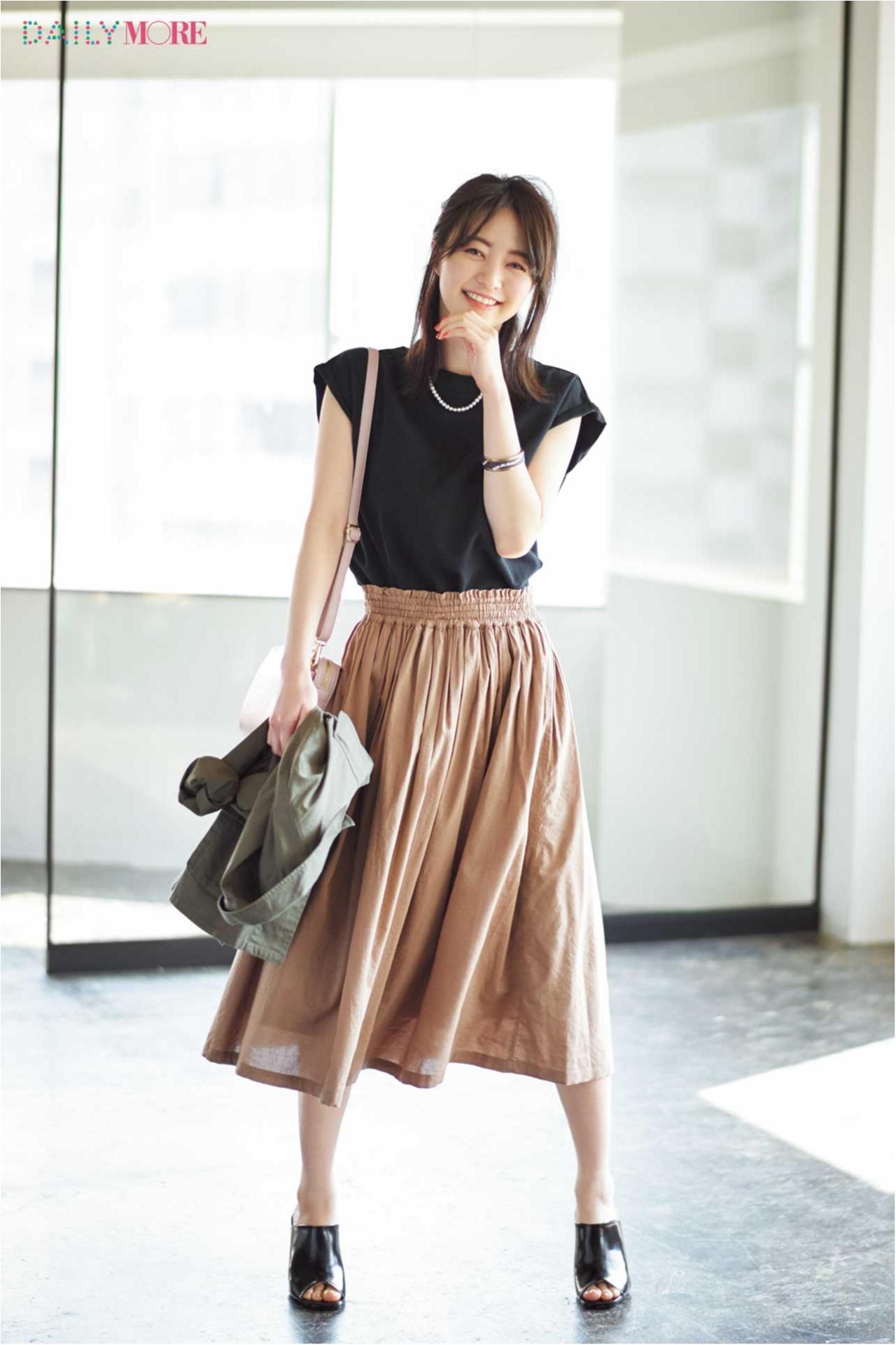 【MORE公式通販GET MORE!ですぐ買える!】体がきれいに見えるブラウスとスカート、その理由は?_2_1