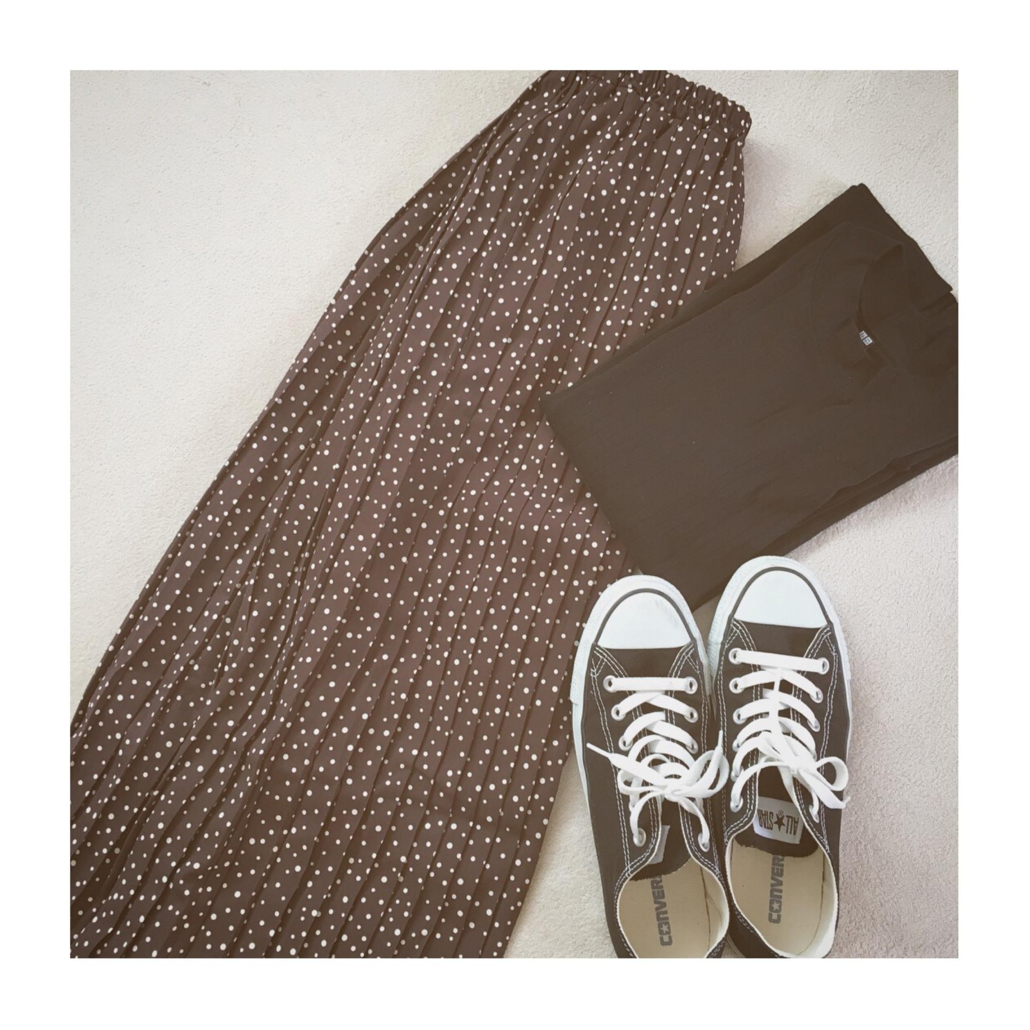 《今買って秋まで使える》優秀アイテム!【Te chichi(テチチ)】のドットプリーツスカートをSALE価格まさかの¥1,600以下でゲット✌︎❤️_3