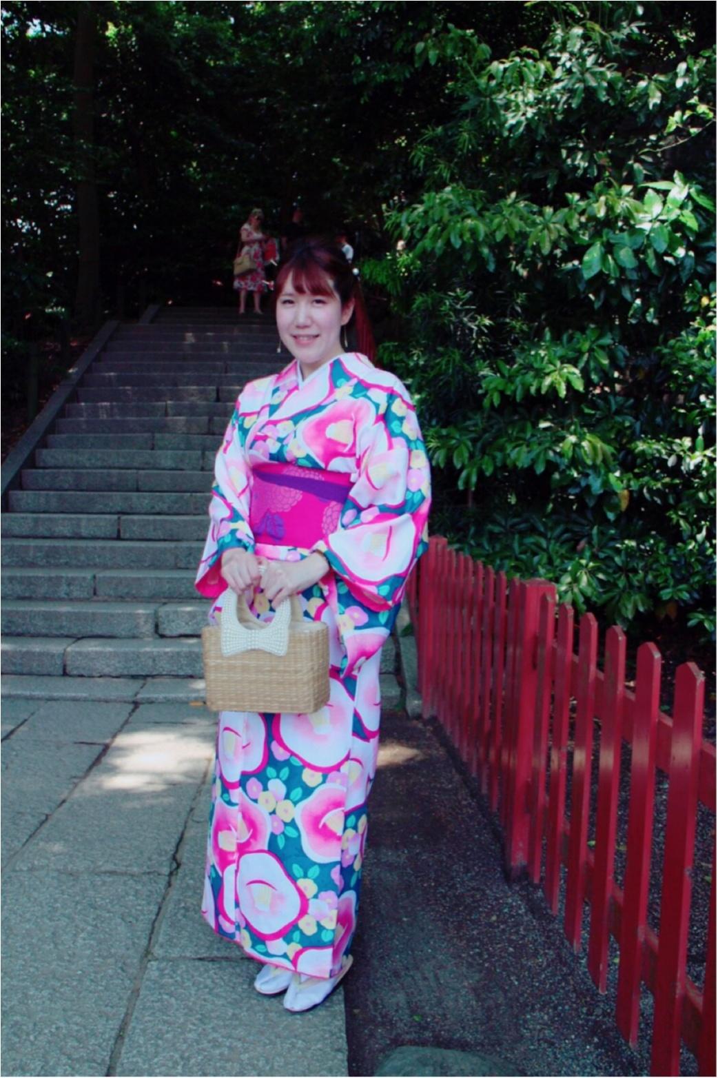 レンタル着物で鎌倉へ!私の着物コーデをご紹介!_2
