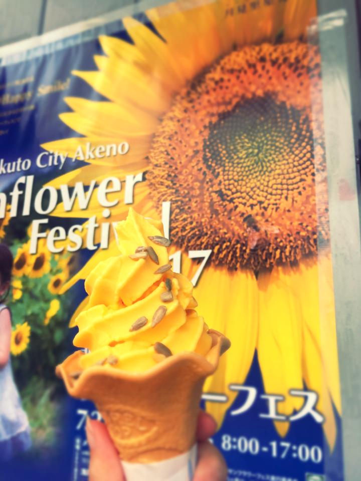 60万本の奇跡!明野ひまわり畑で初めて食べたひまわりソフトクリーム_7