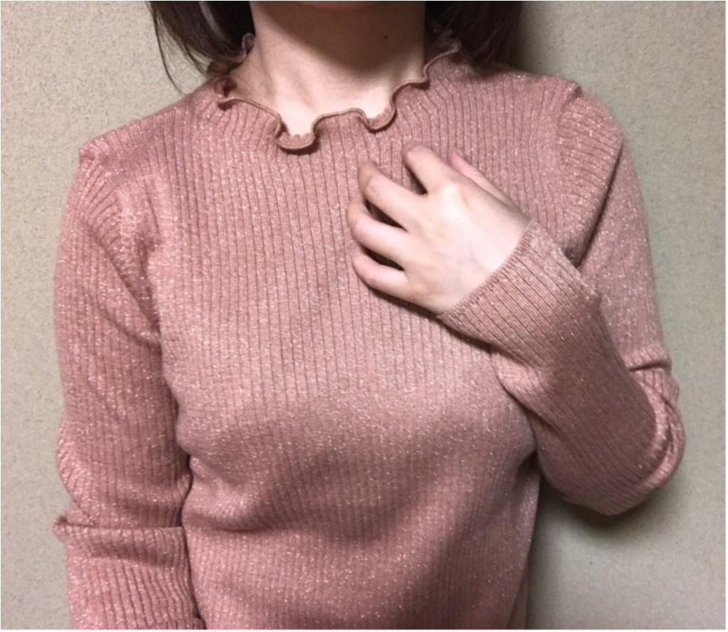 ユニクロ春の名品『シャイニーリブフリルネックセーター』を着てみた!まとめ♡_1_2