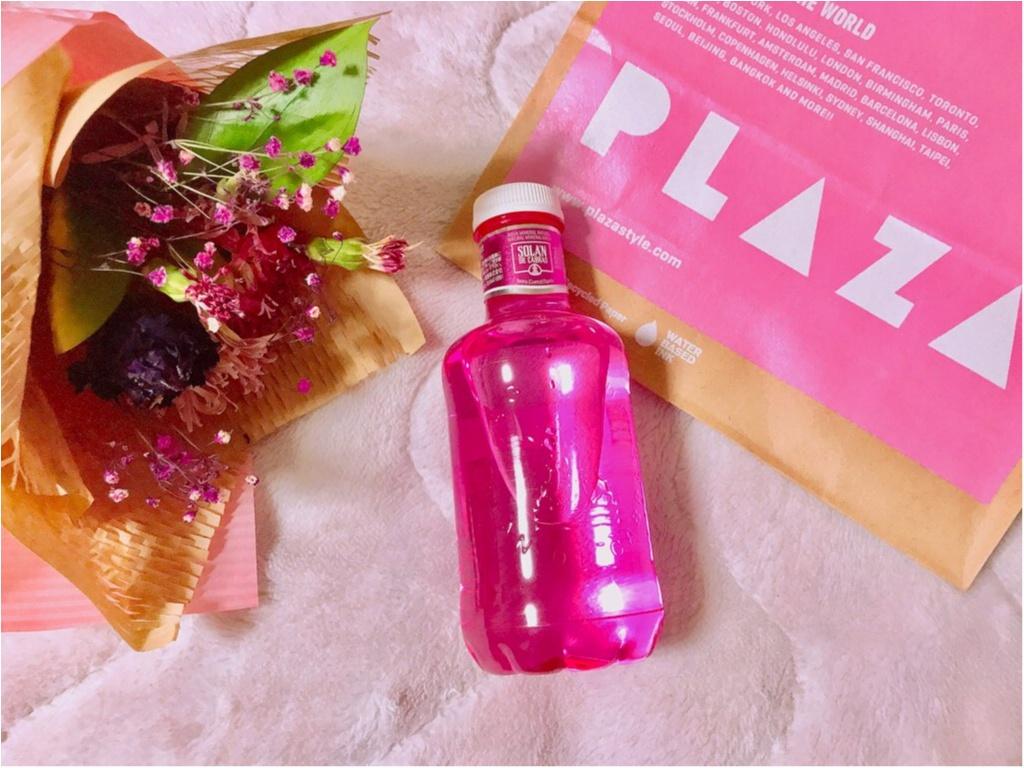 【PLAZA】ピンクのミネラルウォーター!?ピンクリボン運動支援限定《ピンクボトル》が美味しい&実用的★made in スペインの本格ウォーター♡♡_1