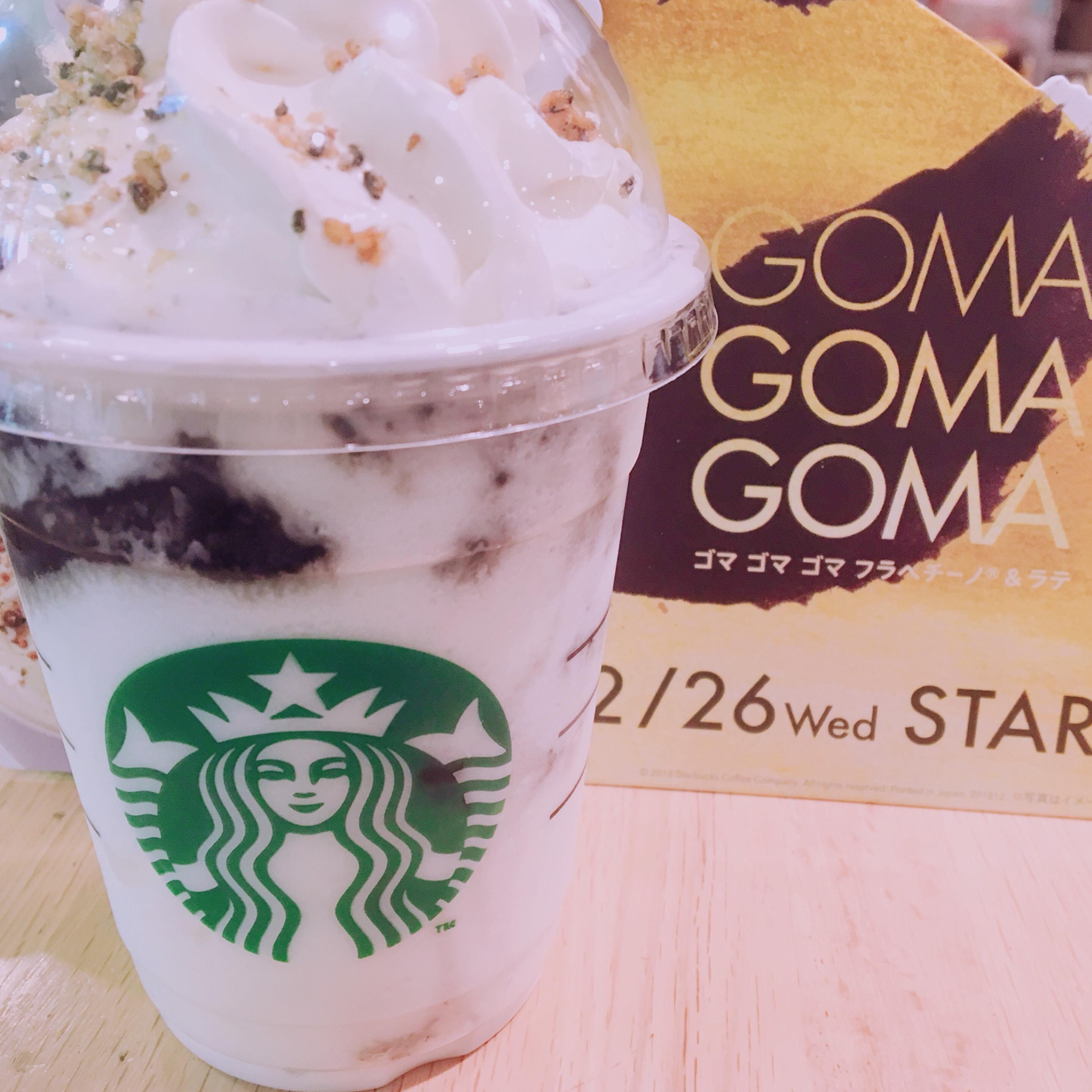 スタバ始め♡2019年最初に飲んだのはゴマゴマゴマラテ!_2