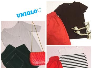 《明日から三連休!》【UNIQLO・GU】のトップスでプチプラ着まわし3コーデ❤️