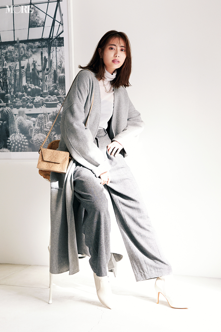 【今日のコーデ】<土屋巴瑞季>連休明けのお仕事服はグレーのワントーンコーデ。実はプチプラ♡_1