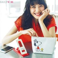 モア6月号の付録は「SNOOPY」のふかふかポーチとスマートフォン用スタンド!!