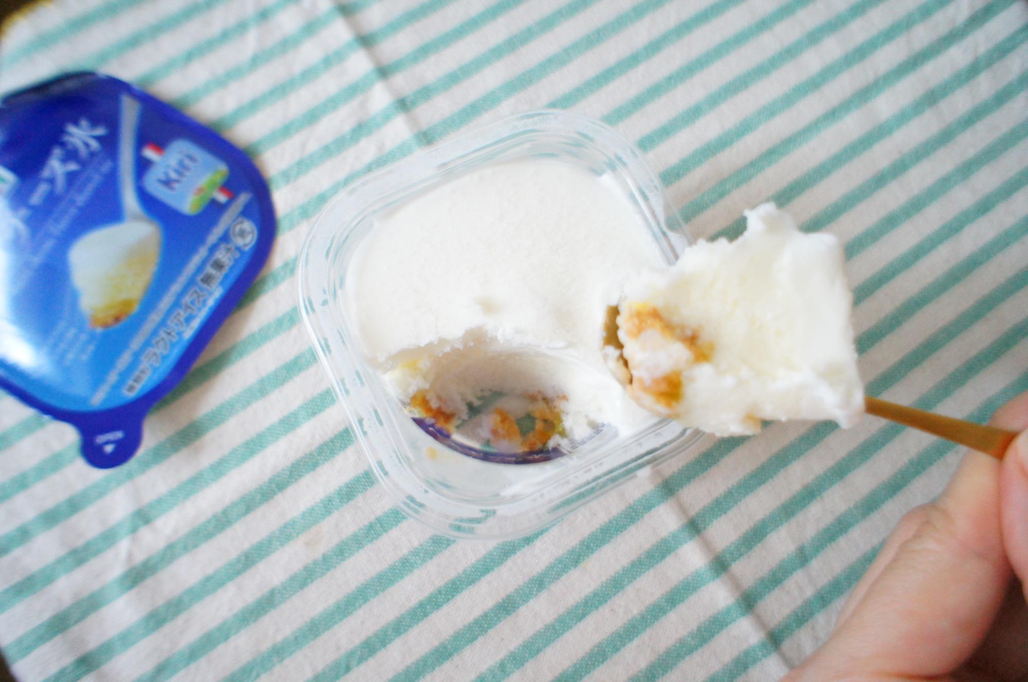 《おいしすぎると話題❤️》【セブン-イレブン】レアチーズ氷を食べてみました☻!_3