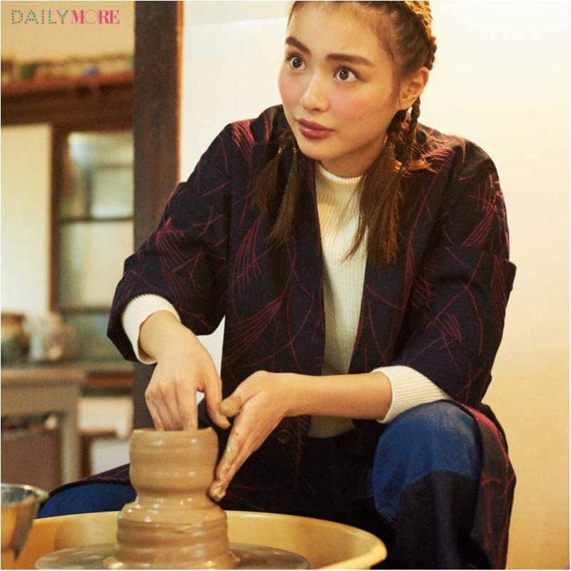 内田理央&イガリシノブさんが提案!「彼と陶芸教室の日」は「高揚ほっぺの愛嬌フェイスメイク」が断然愛される♪_1