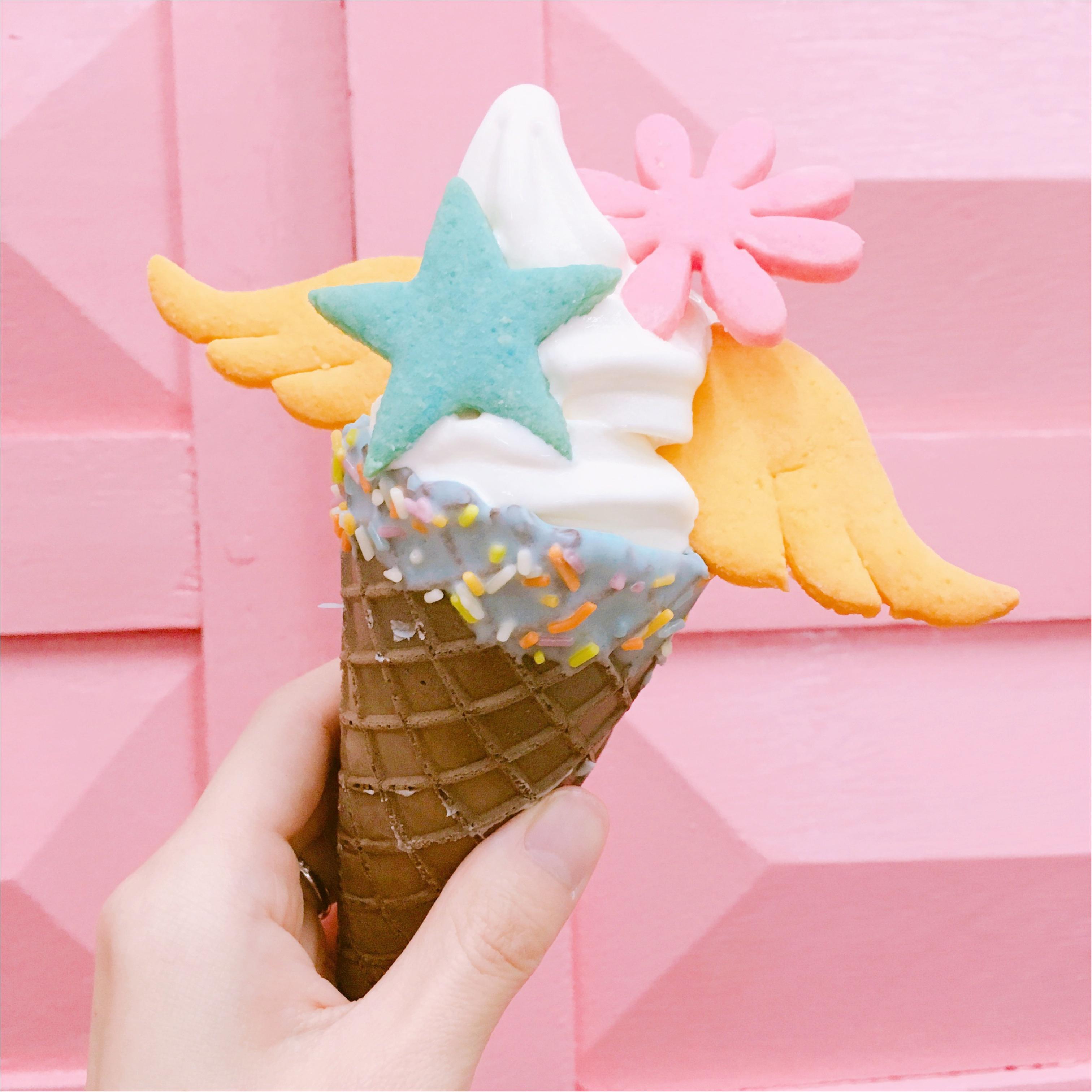《 私のカフェめぐり♪ 》 SNS映えばっちり◎カラフルクッキーが乗ったソフトクリーム♡♡_4