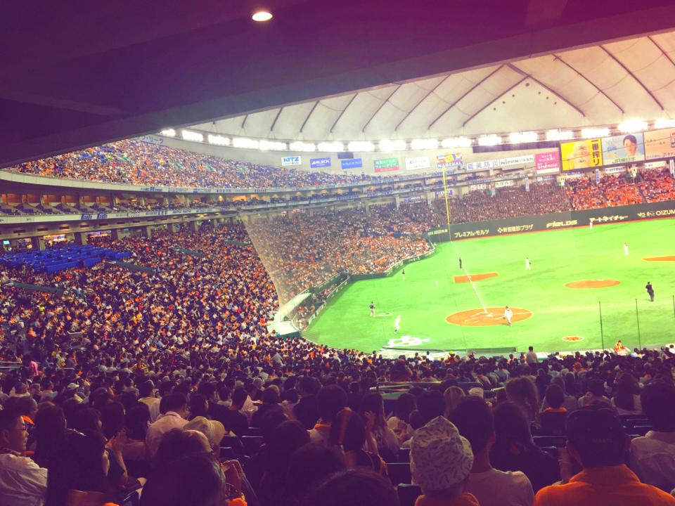 初めての立ち見野球観戦★あなたの顔が東京ドームのスクリーンに!?_6