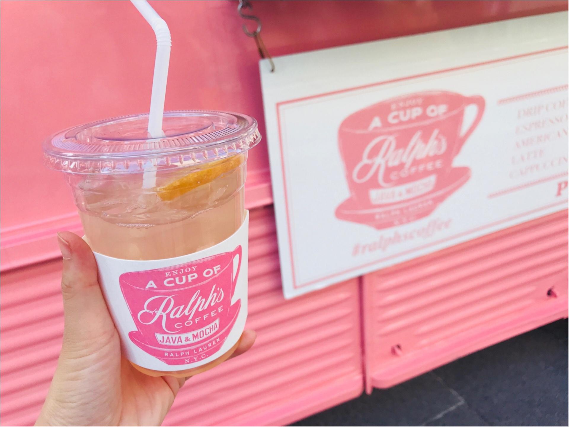 期間限定で《ラルフズコーヒートラック》がピンク色に!限定ピンクレモネードが美味♡_4