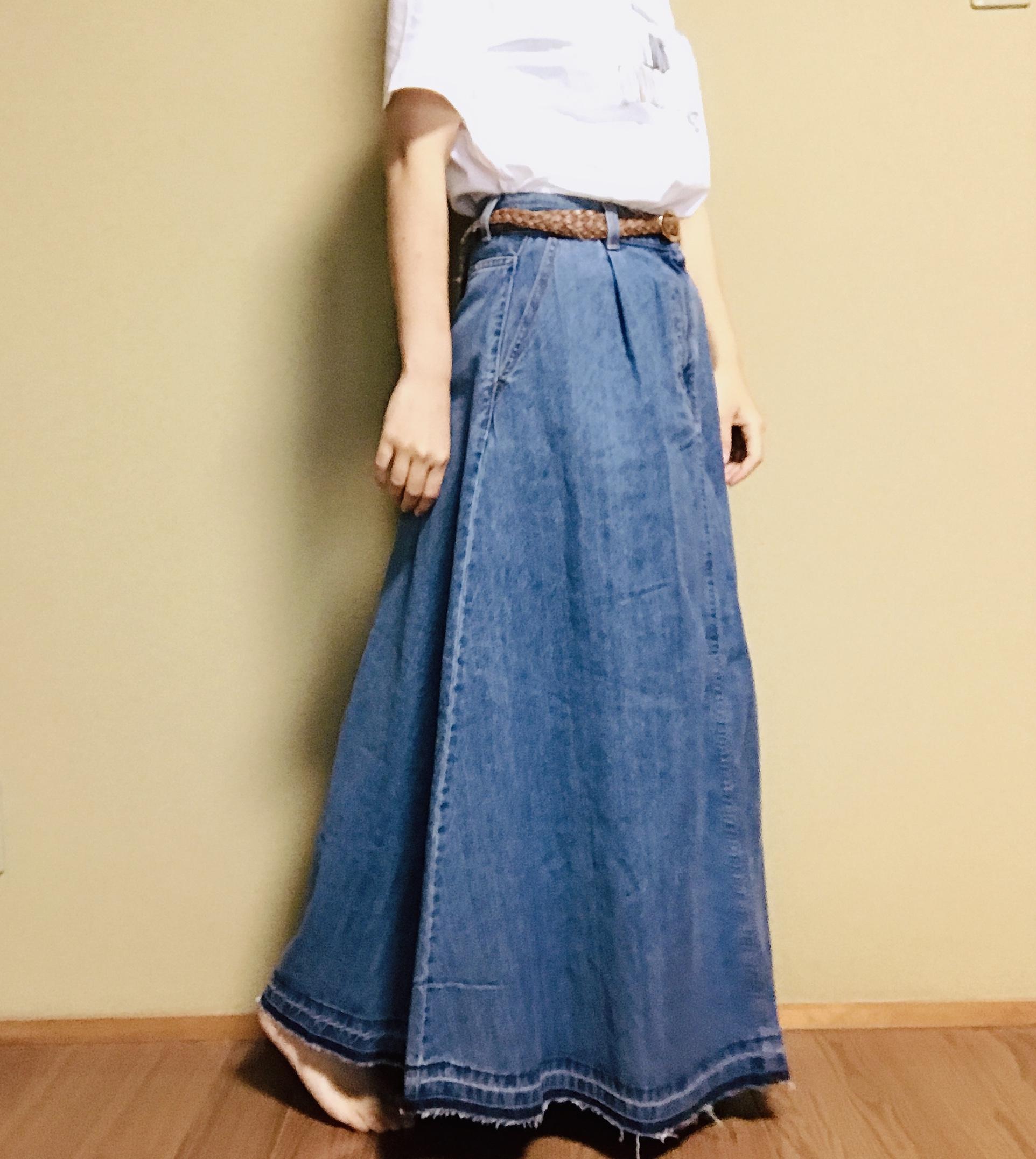 【GU】SNSで話題沸騰#神デニムアイテム!今春大注目《デニムフレアマキシスカート》は絶対買い♡_4