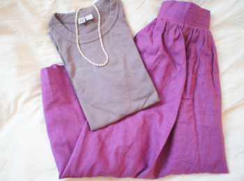 《#170cmトールガール》のプチプラコーデ❤️【MORE本誌にも掲載!】¥2,990+税のラベンダーカラースカートが使える☻
