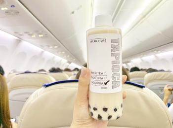 空飛ぶタピオカ!?ついに羽田空港にタピオカ屋さんが、、!