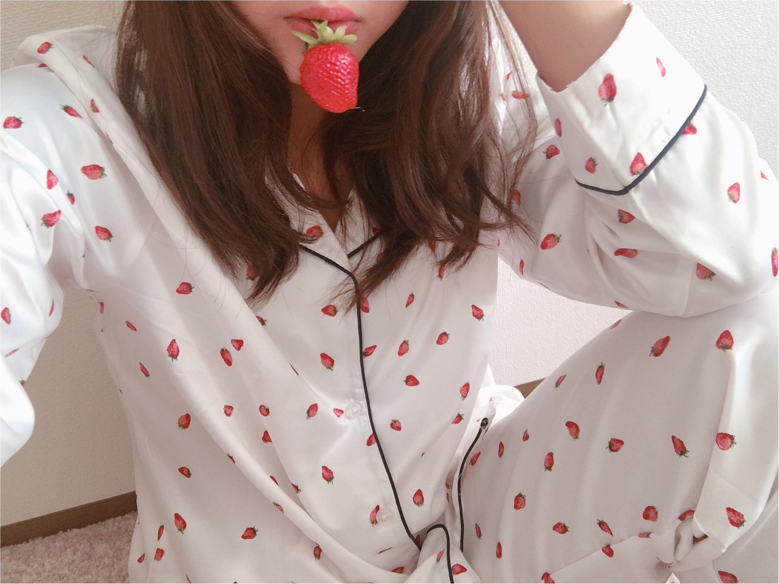 【GU(ジーユー)】いちごパジャマがかわいすぎて春が待ち遠しい!_4