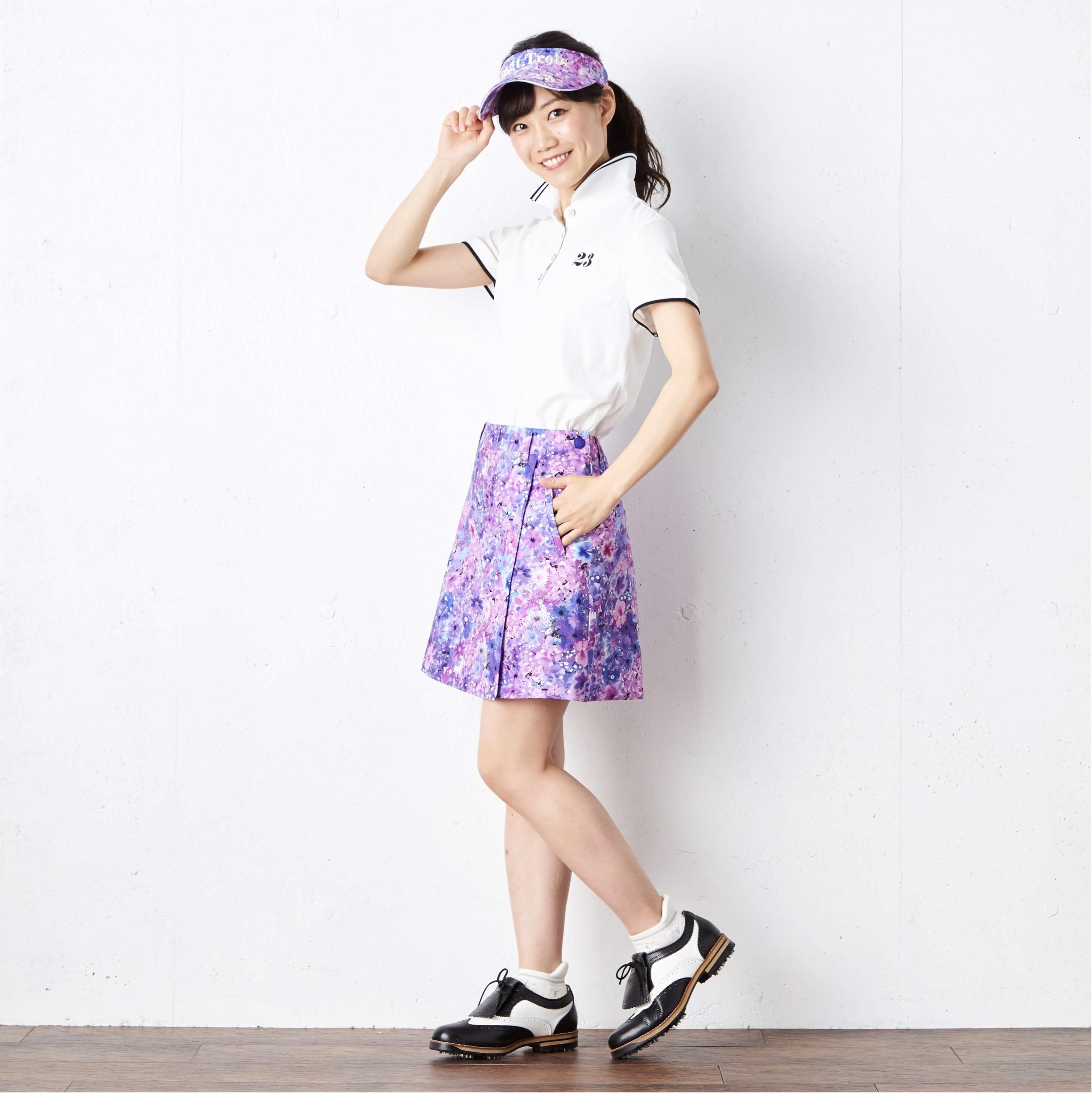 【23区GOLFcoodinate】ゴルフ女子必見!夏のゴルフコーディネート3色展開!_1