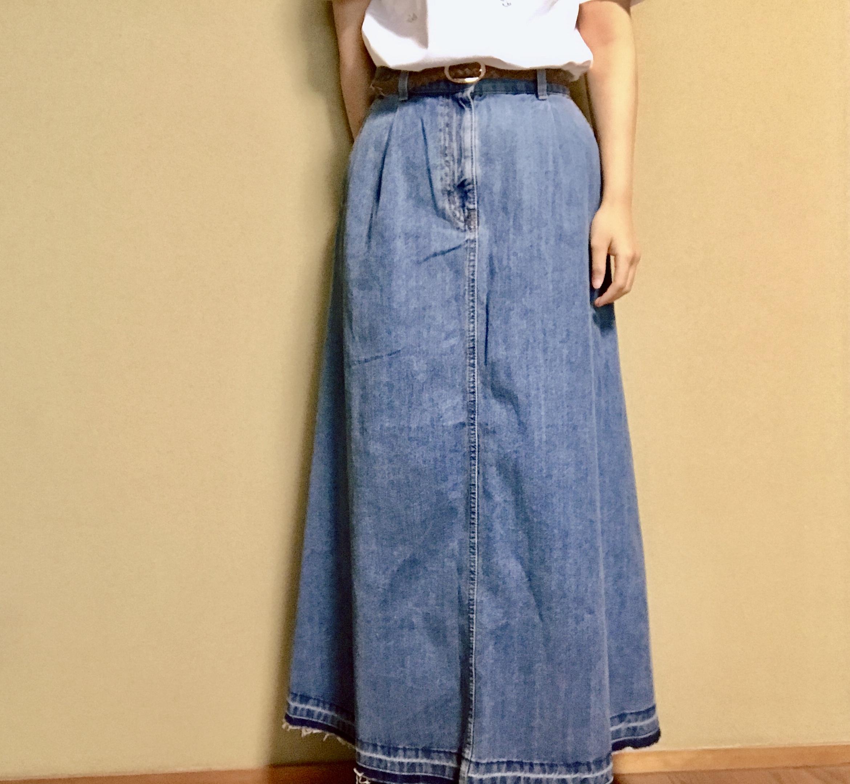 【GU】SNSで話題沸騰#神デニムアイテム!今春大注目《デニムフレアマキシスカート》は絶対買い♡_2