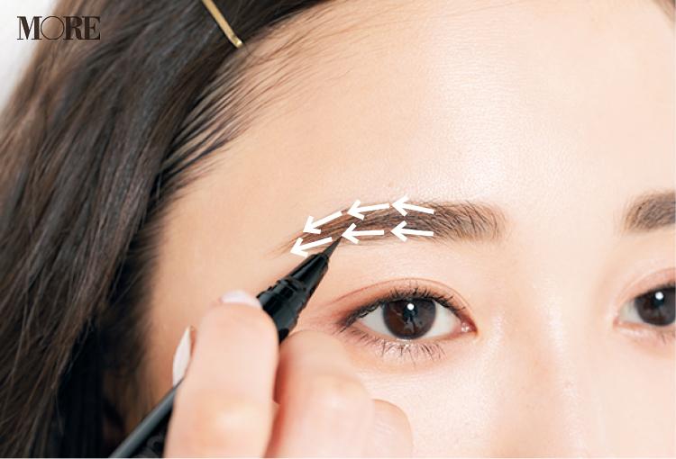 「眉が薄い人」におすすめの眉の描き方。自然なボリュームを出すテク&仕上げアイテム!_4