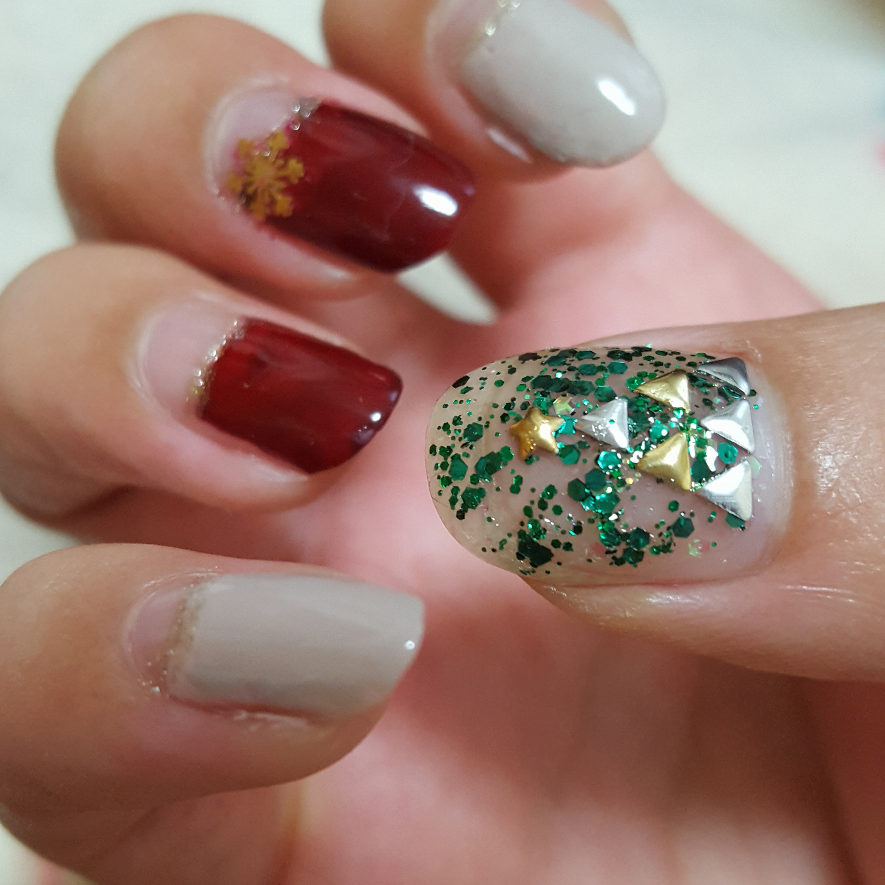 クリスマス週末3日間☆キラキラ輝くXmasイルミネーション風ネイル~その2~_1