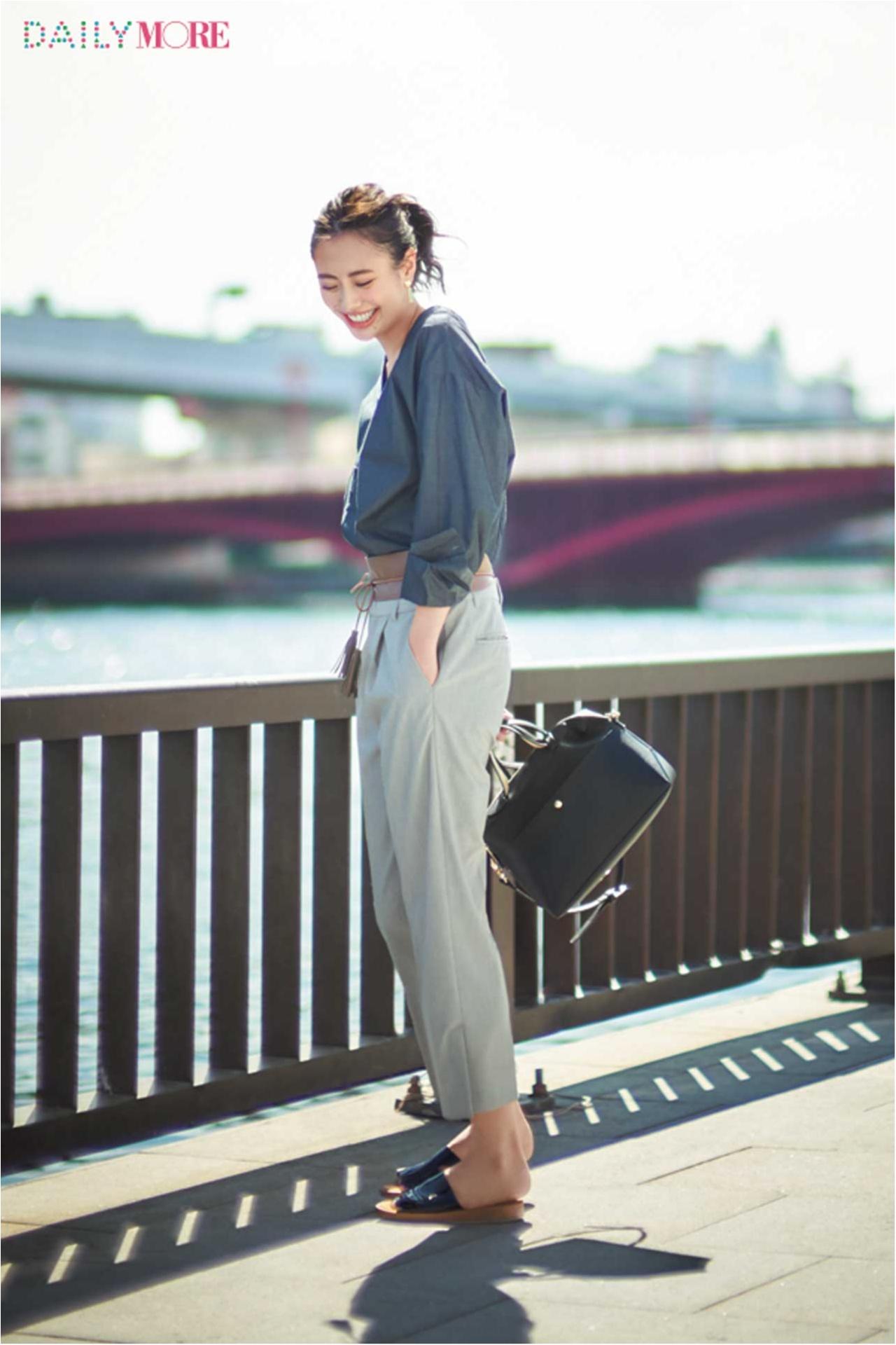 【今日のコーデ/土屋巴瑞季】「素敵な先輩」を気取りたい、パンツの日。足もとはあくまで「シンプル・上質」_1