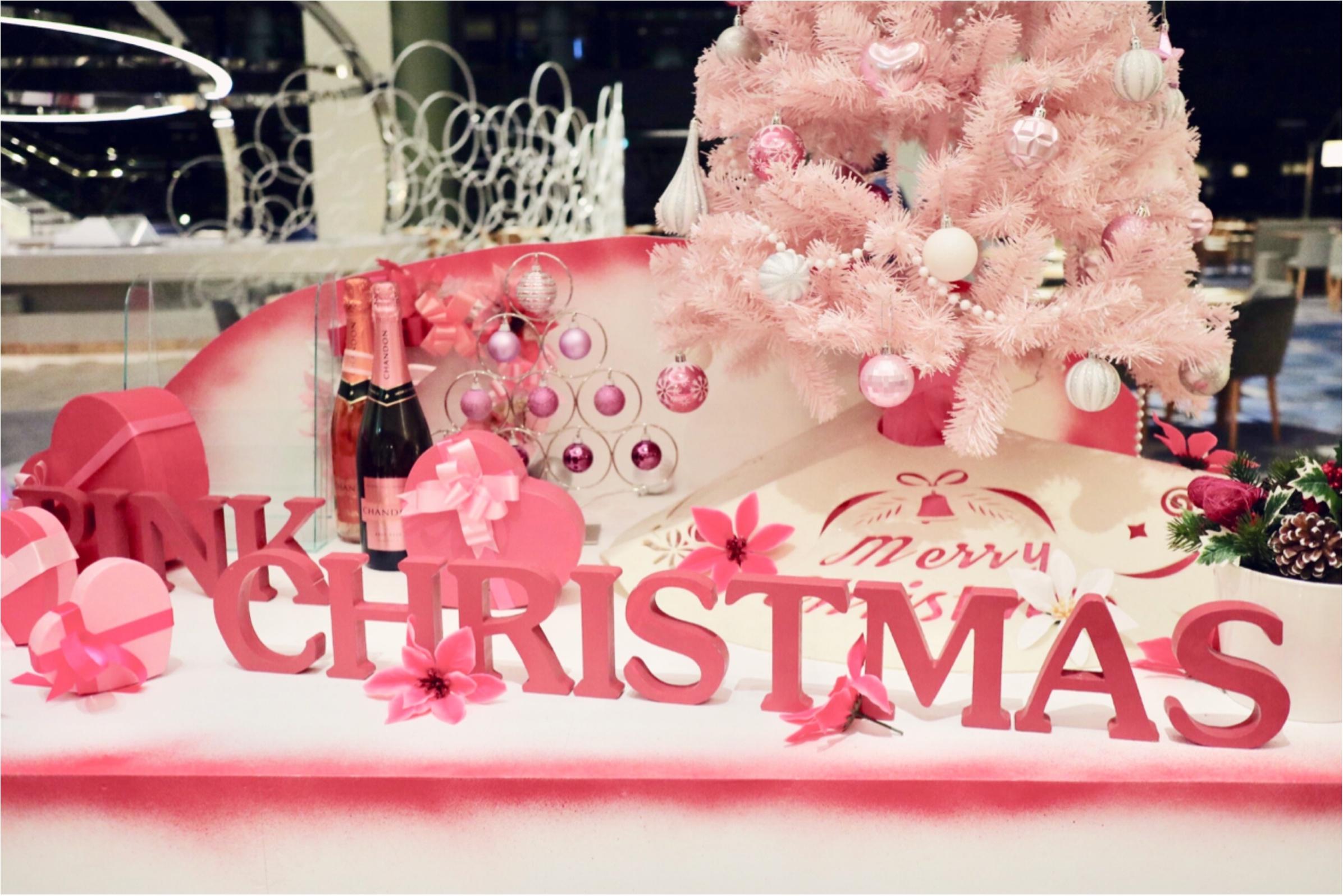 ヒルトン東京ベイ【ピンク・クリスマス】ビュッフェで今年最後のモアハピ女子会♡_1