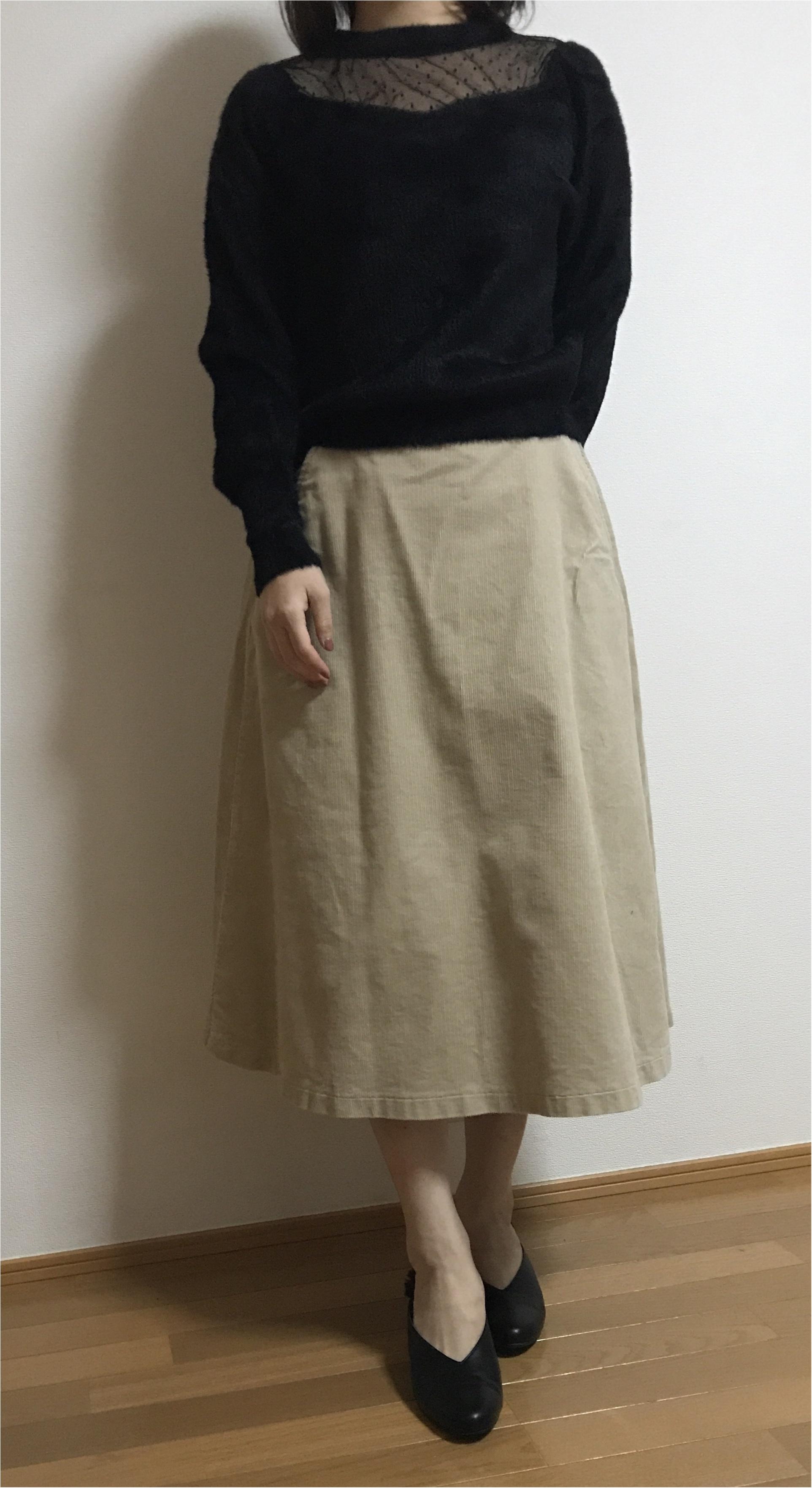 【ユニクロ】買ってよかった!まだまだ使える冬アイテム♡♡《コーデュロイスカート×ニット》の最強コーデを組んでみました❤︎_5