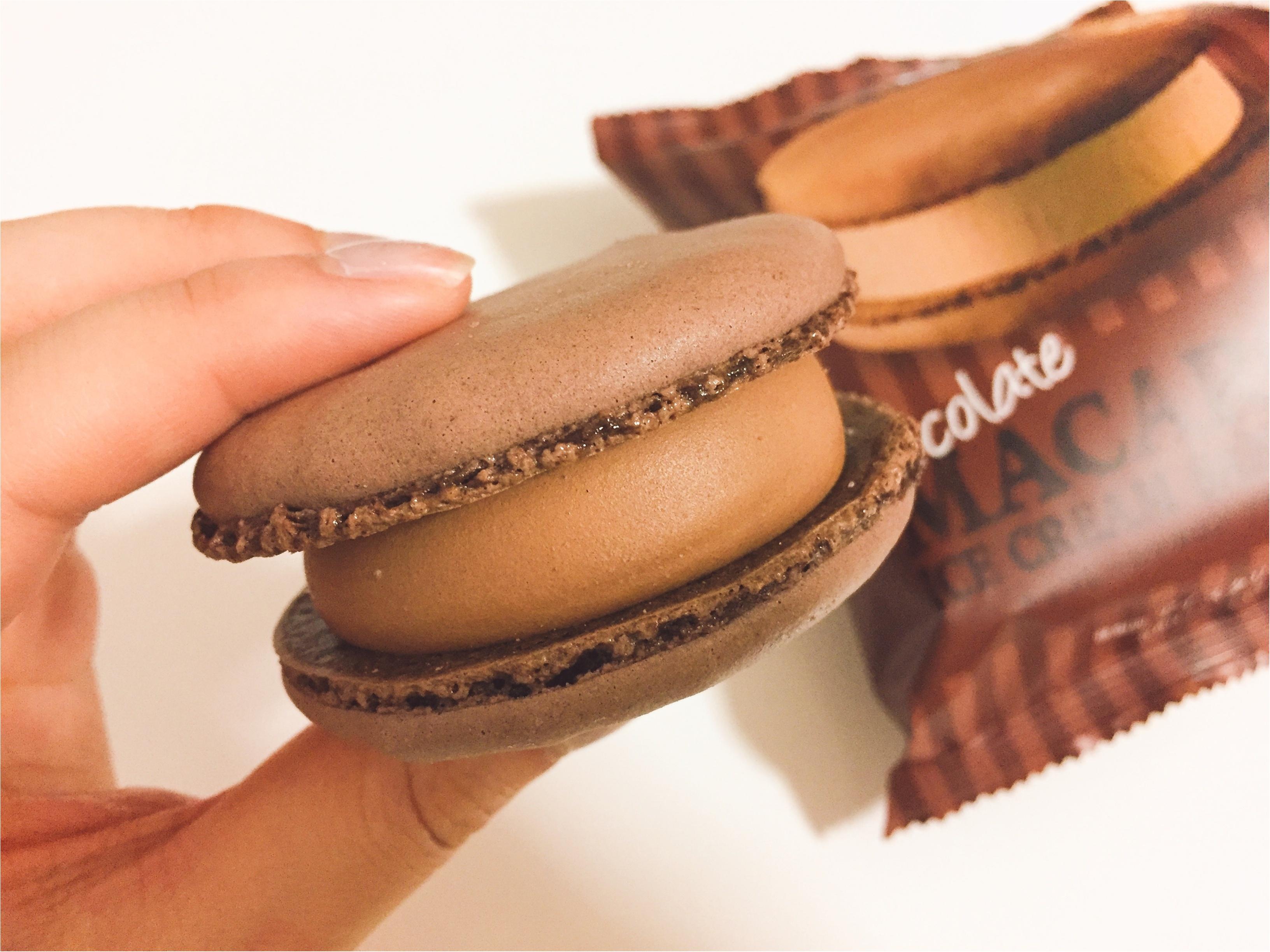 【セブンアイス】まさにご褒美♡完売必至!大人気の『マカロンアイス』からチョコレート味が新登場♡*_3