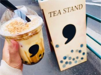 【コンマティー(comma tea)】日本初!《焦がし黒糖タピオカラテ》が絶品なんです♡