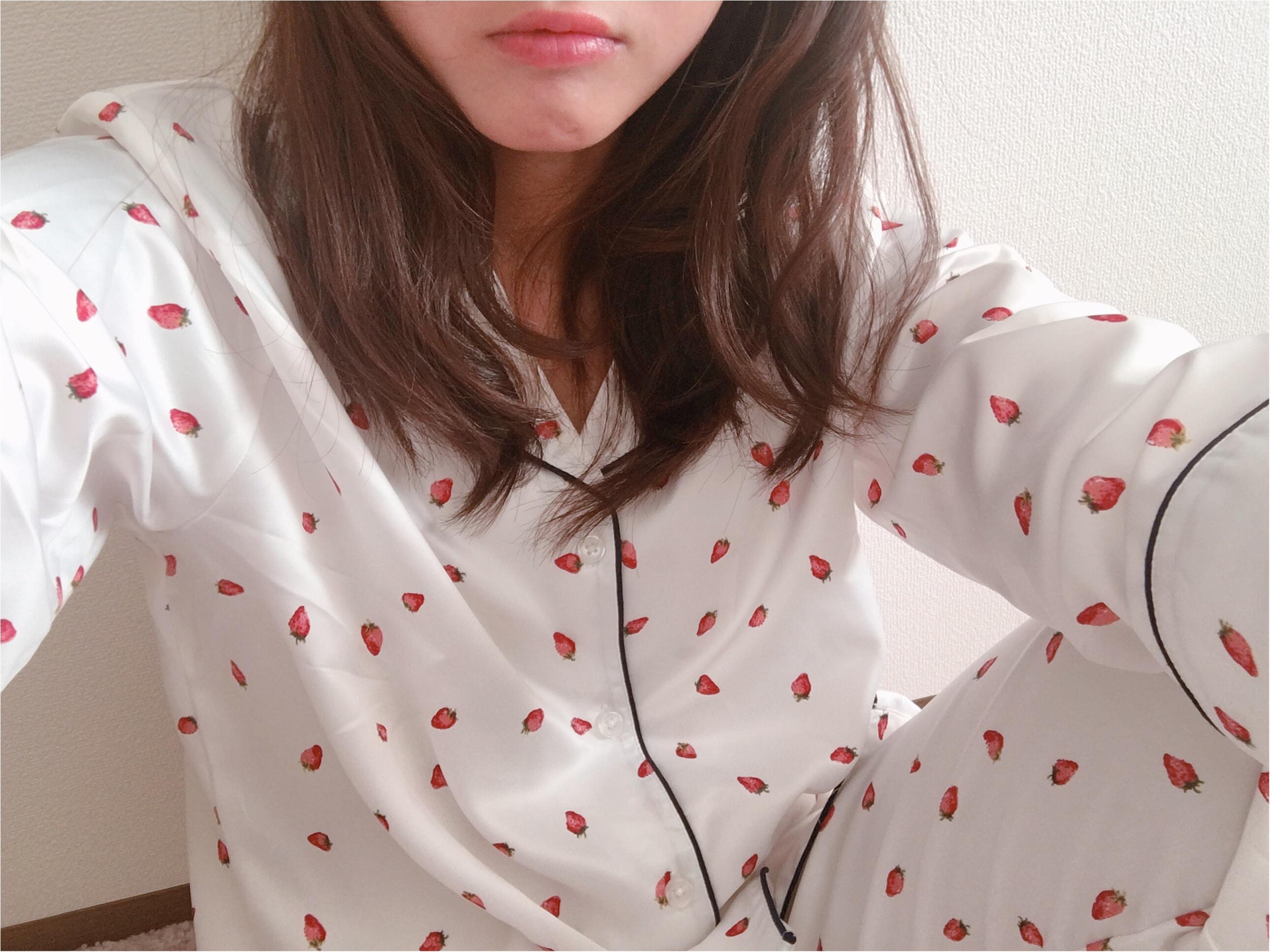 【GU(ジーユー)】いちごパジャマがかわいすぎて春が待ち遠しい!_3