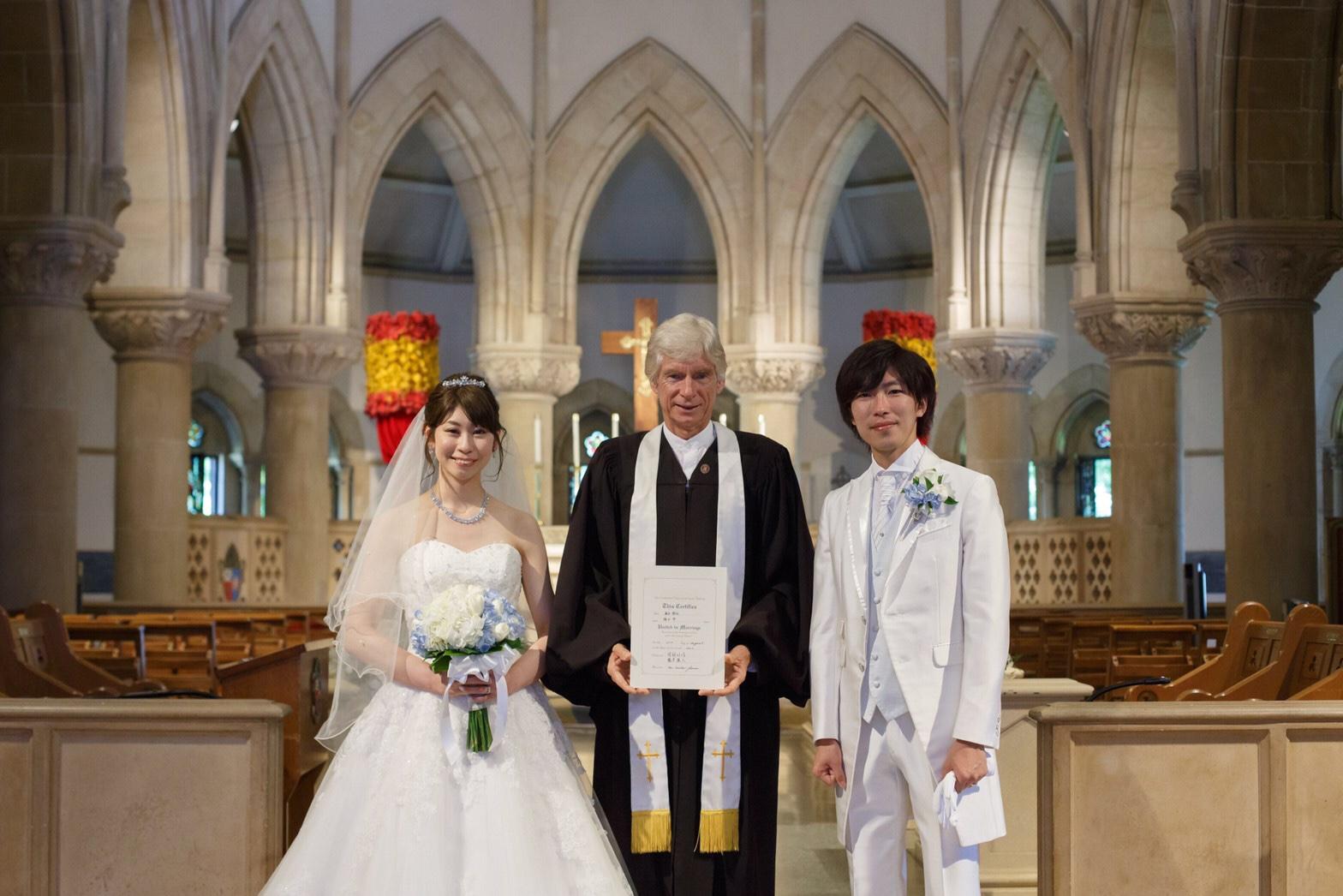 【ハワイ挙式】幻想的なステンドグラスが魅力的!セントアンドリュース大聖堂にて結婚式を挙げました♡♡_9