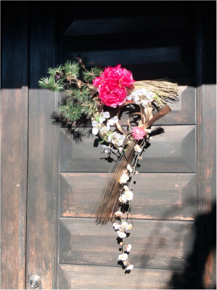 お正月に向けてしめ縄飾りを作ったよ♡シャクヤクのお花♡_2