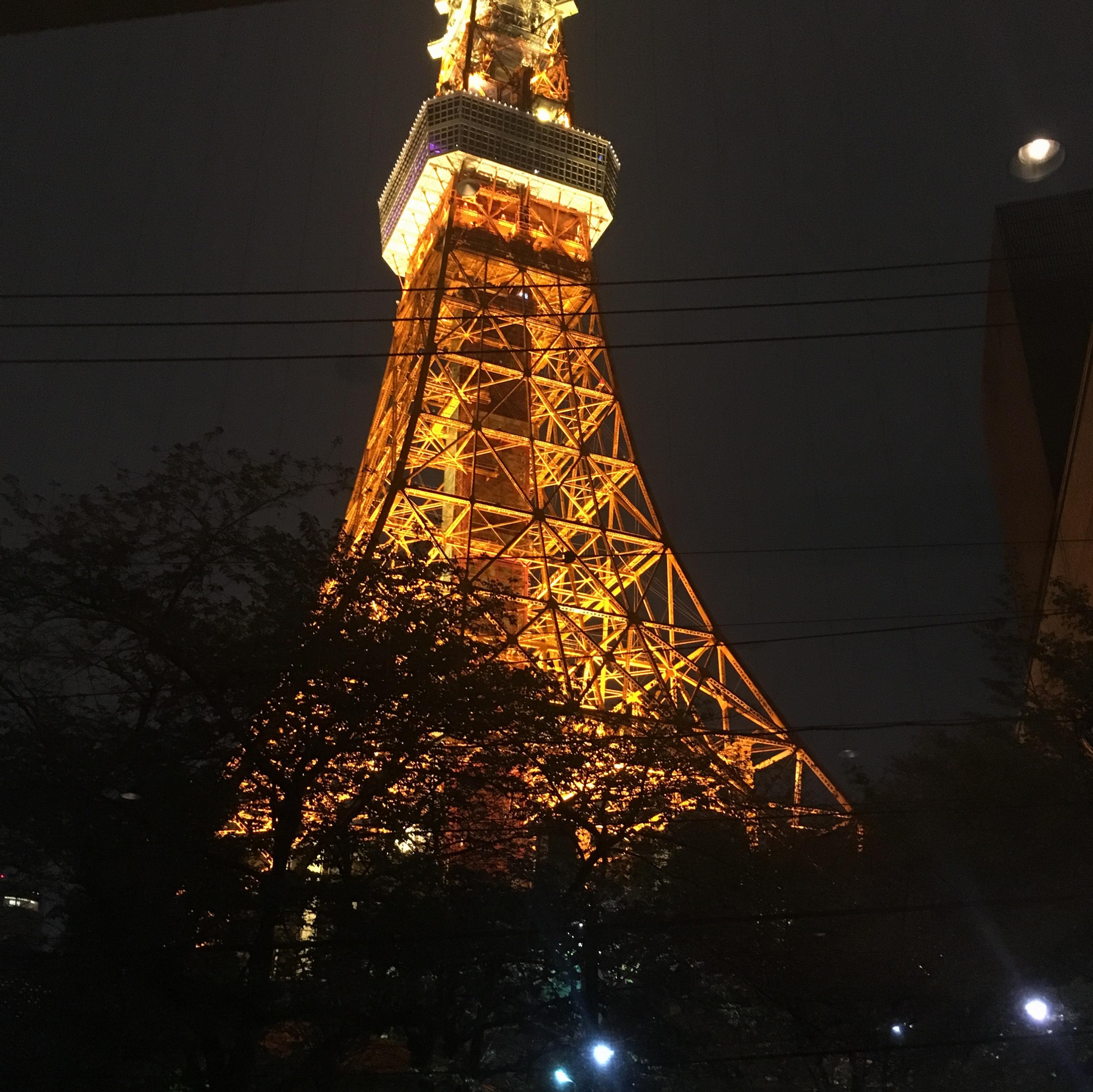 ごほうびごはんに!東京タワーの真下でディナー( ^ω^ )_1