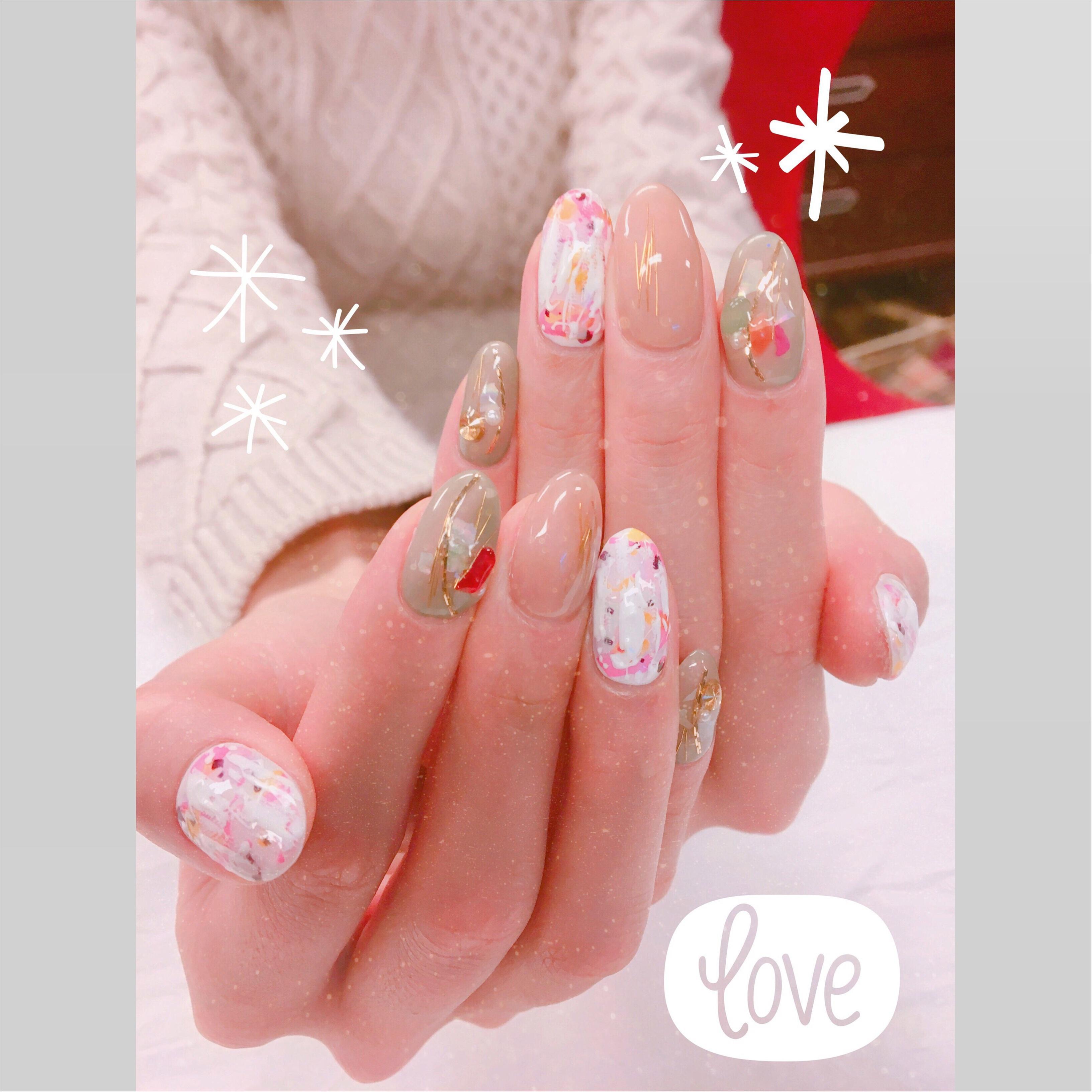 【冬ネイル】冬服にぴったりのスモーキーカラーに♡♡_1