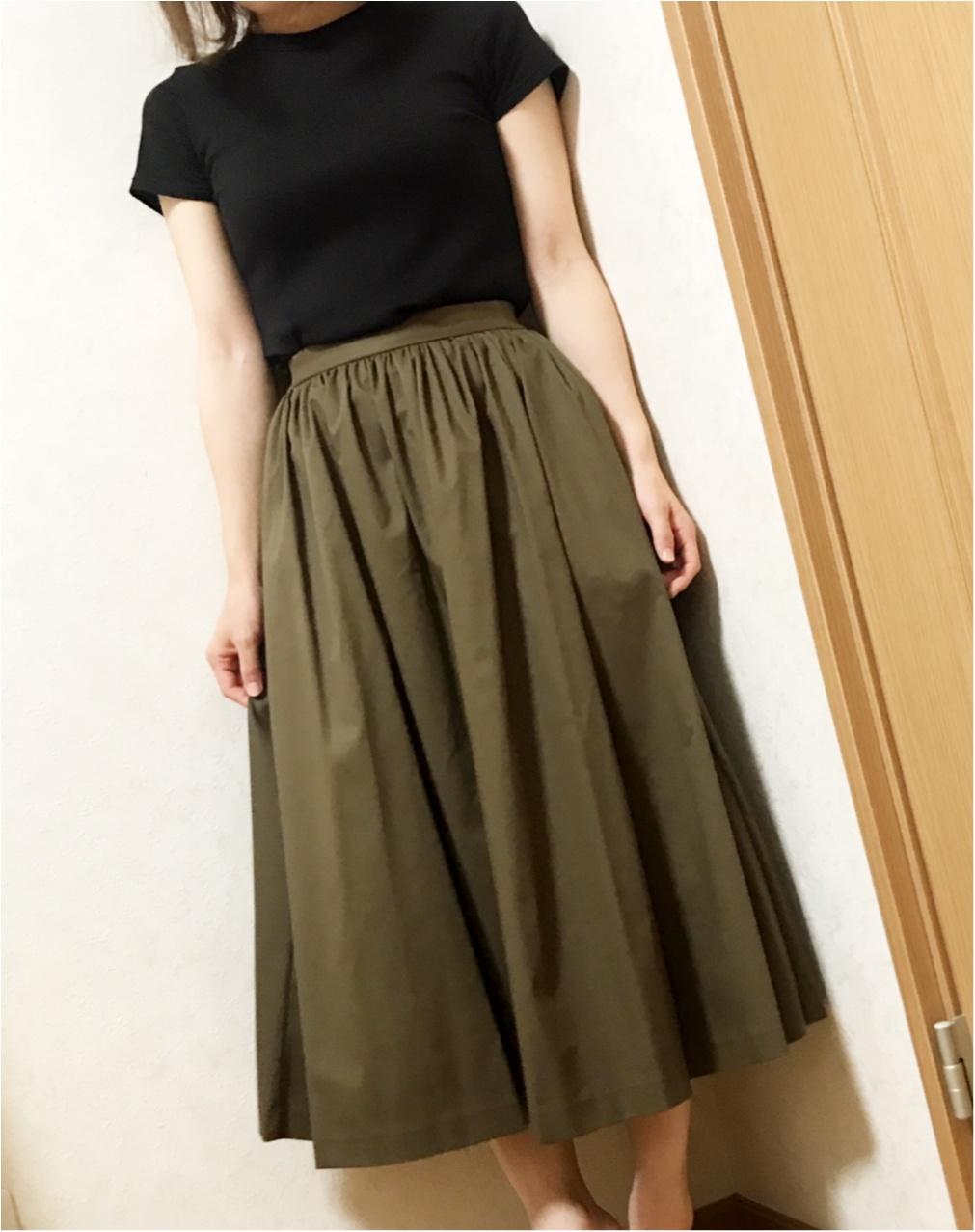 【9/21まで¥1000引き♡②】シワになりにくい!ユニクロの優秀スカート♪_2