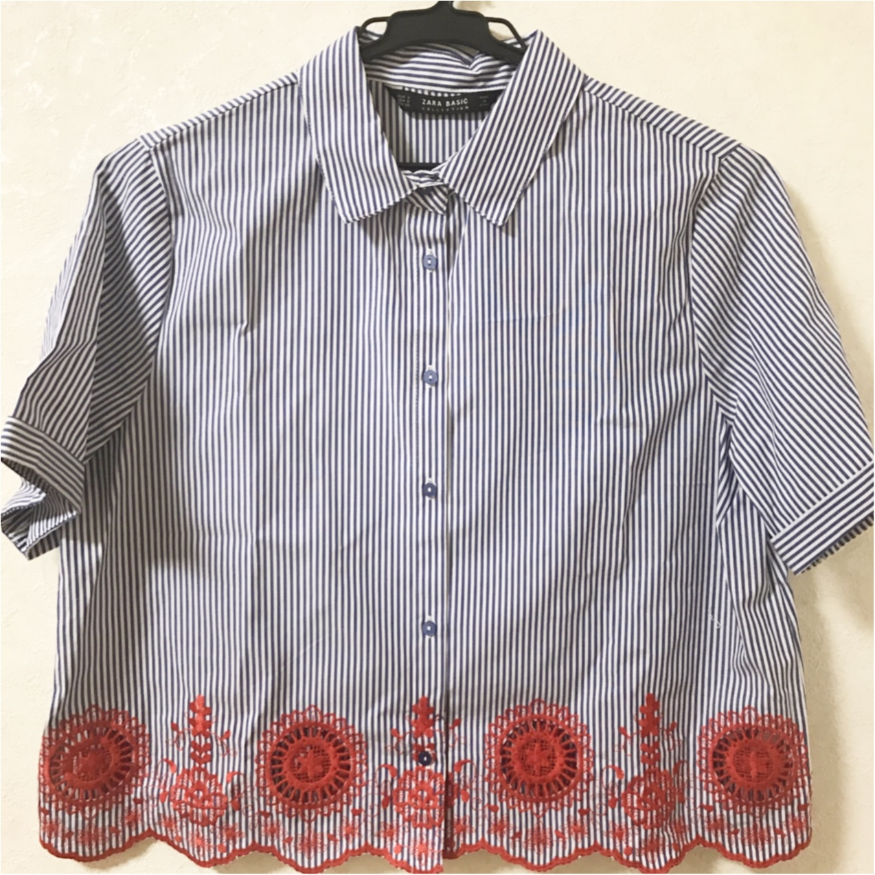 """刺繍 × ストライプにひとめぼれ♡【ZARA】で出会った""""自由になれるシャツ""""_2"""