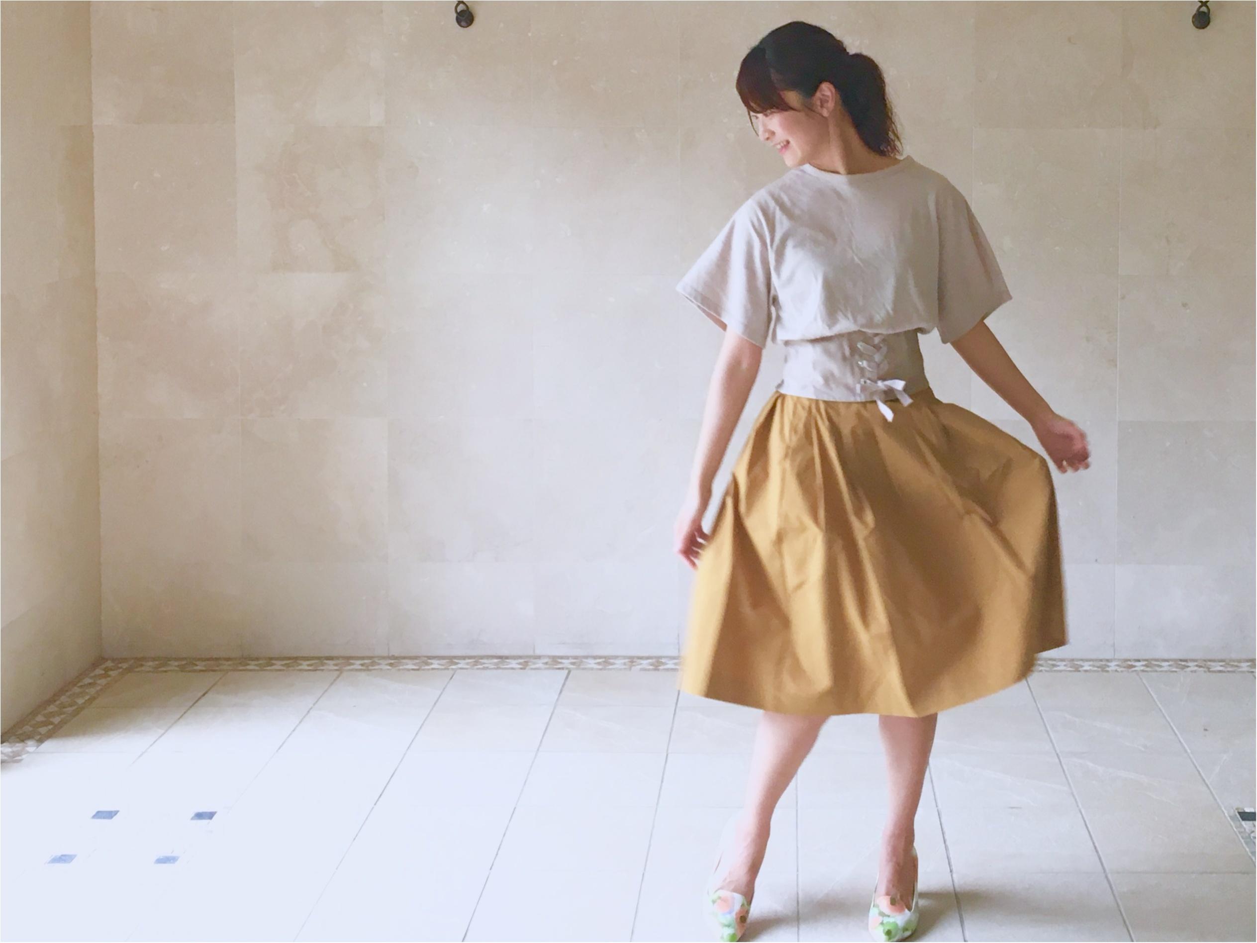 【UNIQLO】シワになりにくいからお手入れ楽チン❤️《美シルエットの優秀スカート》3選!_5