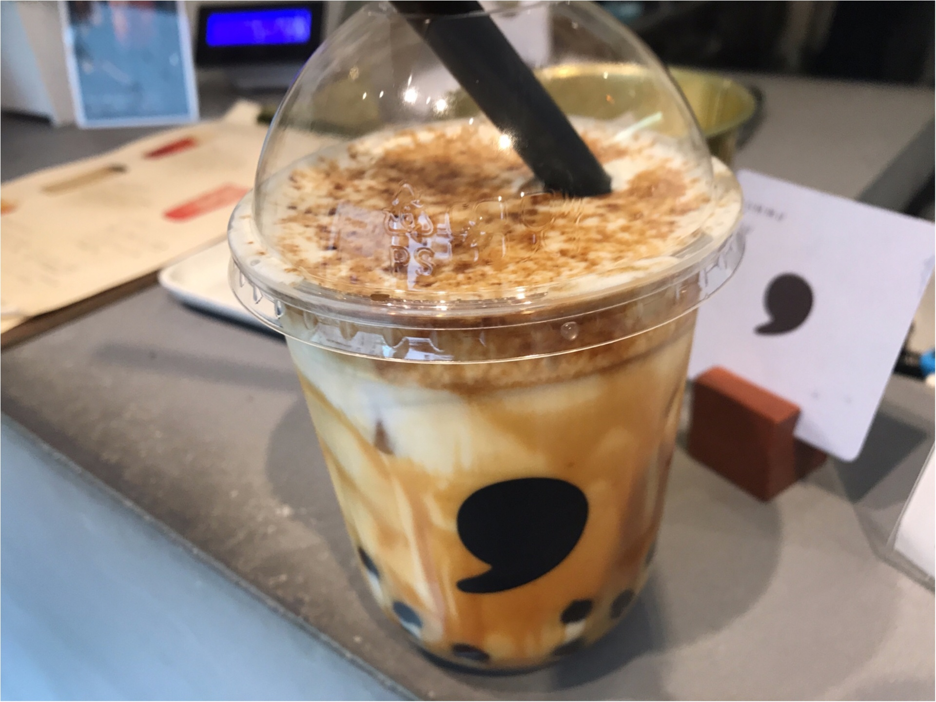 【コンマティー(comma tea)】日本初!《焦がし黒糖タピオカラテ》が絶品なんです♡_3