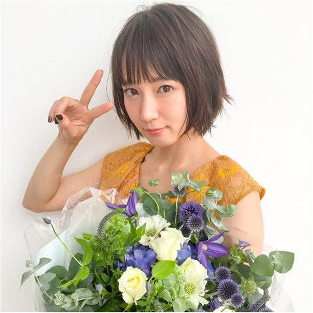 吉岡里帆さんのキラキラした目が可愛すぎる♡【MORE10月号 撮影のオフショット】_1