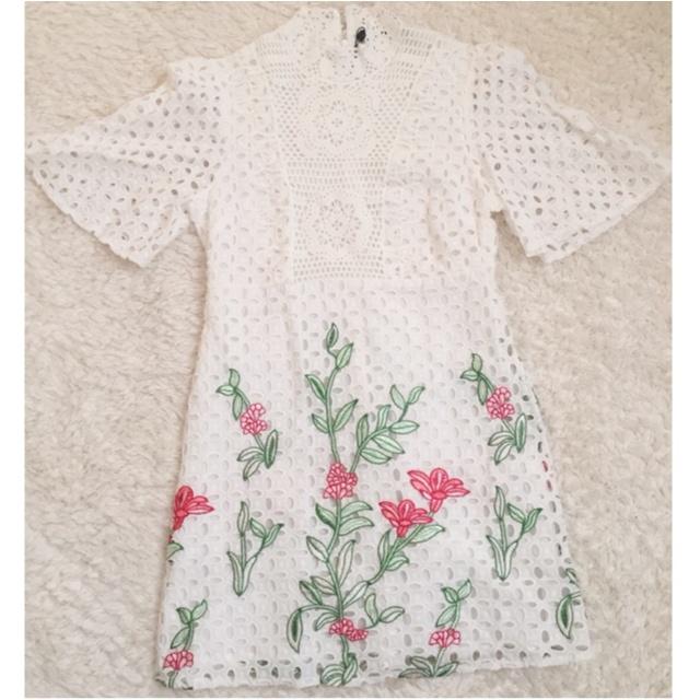 【ZARA】刺繍入りレースワンピース(¥7,990)がクラシカルで可愛い♡_1