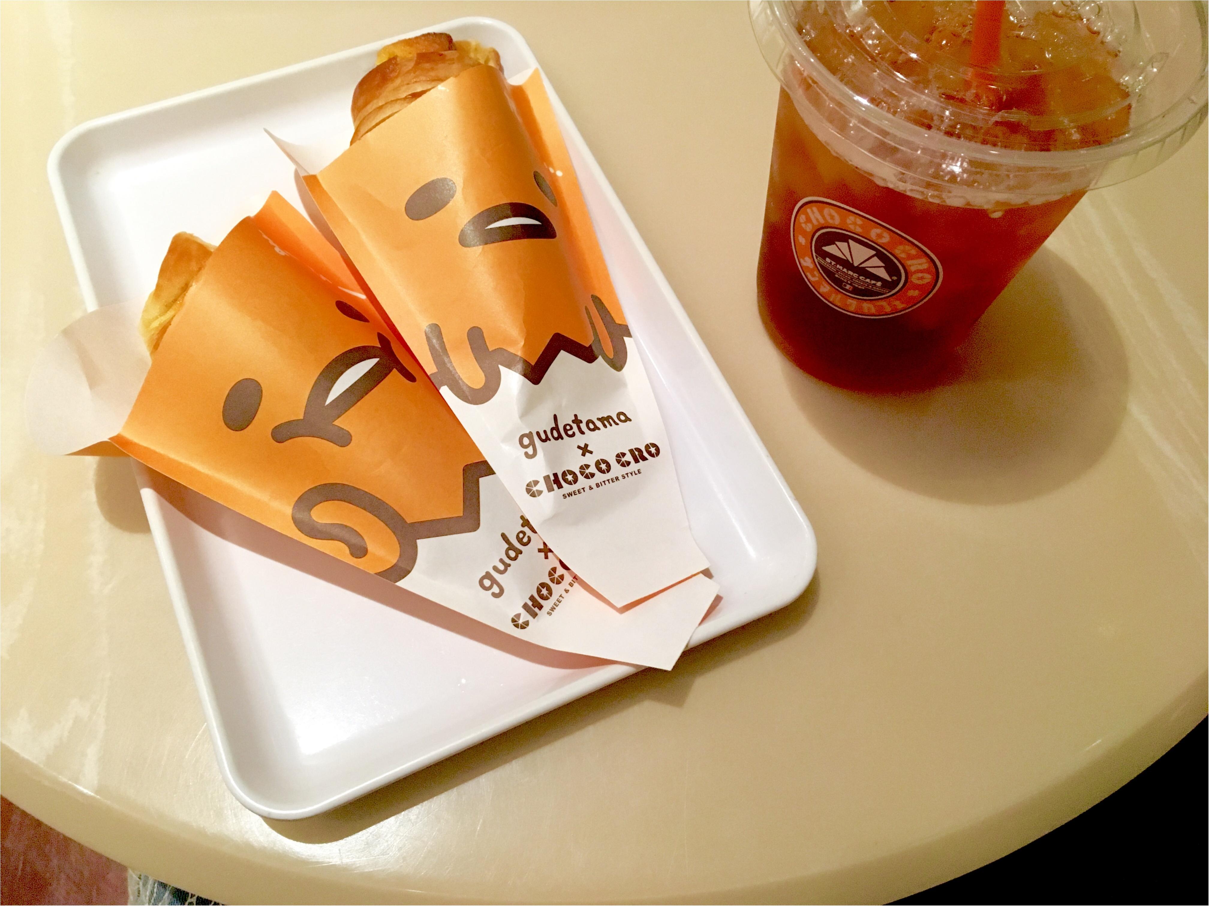 【サンマルクカフェ】もう食べた?ぐでたまコラボのチョコクロ♡_1