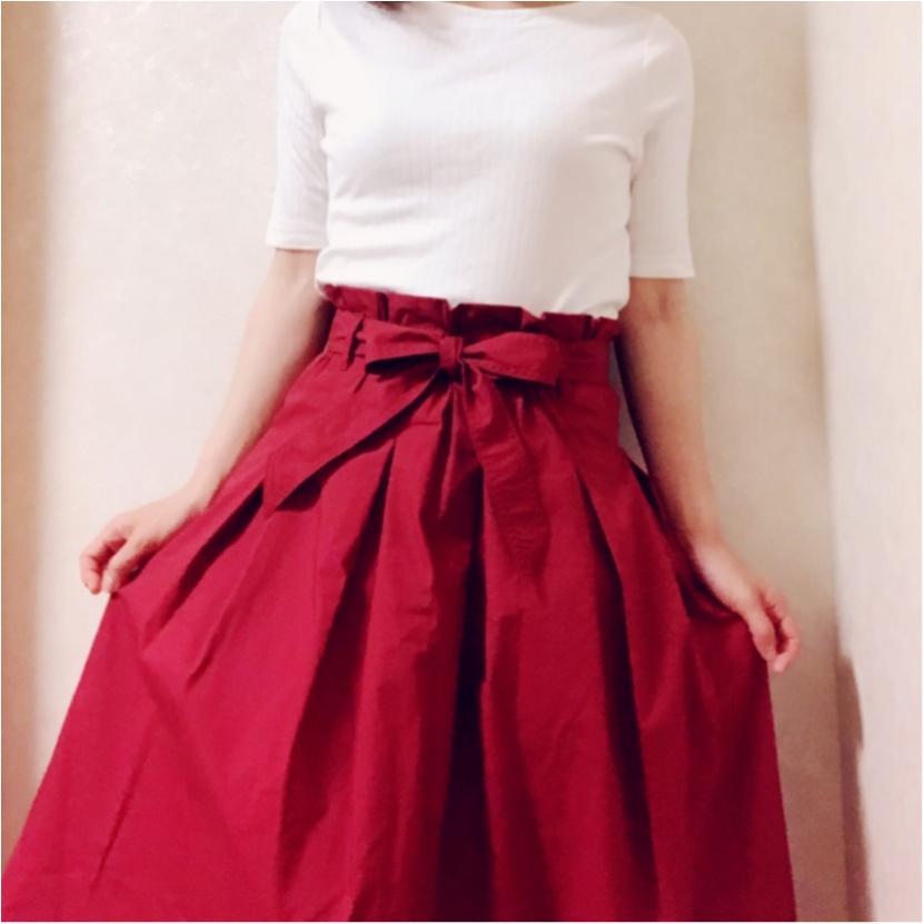 履くだけで大人可愛い♡【ユニクロ】のミディスカートが使えるっ!_2