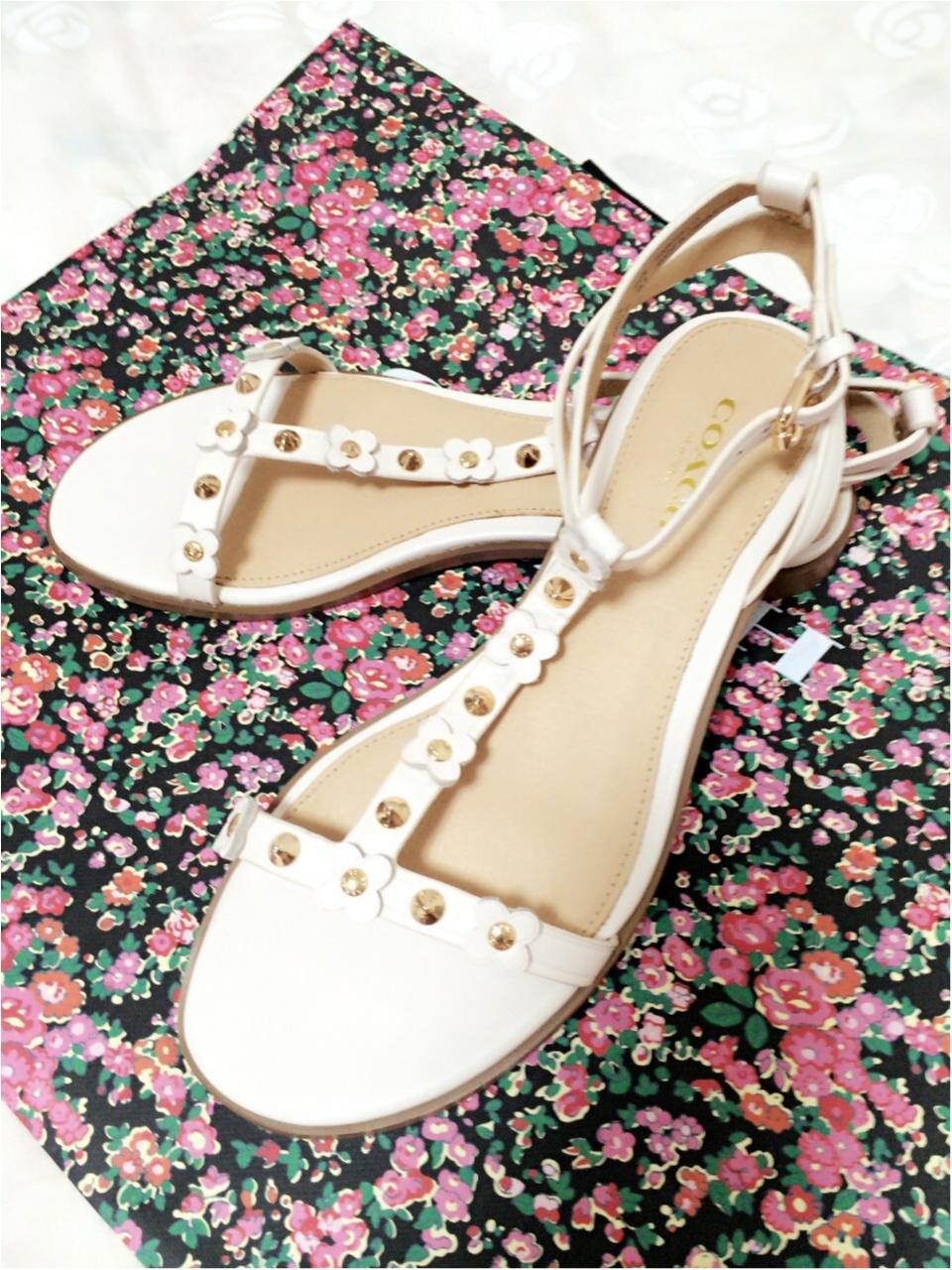 靴は素敵なものを…♡一目惚れしたcoachのサンダル!_1