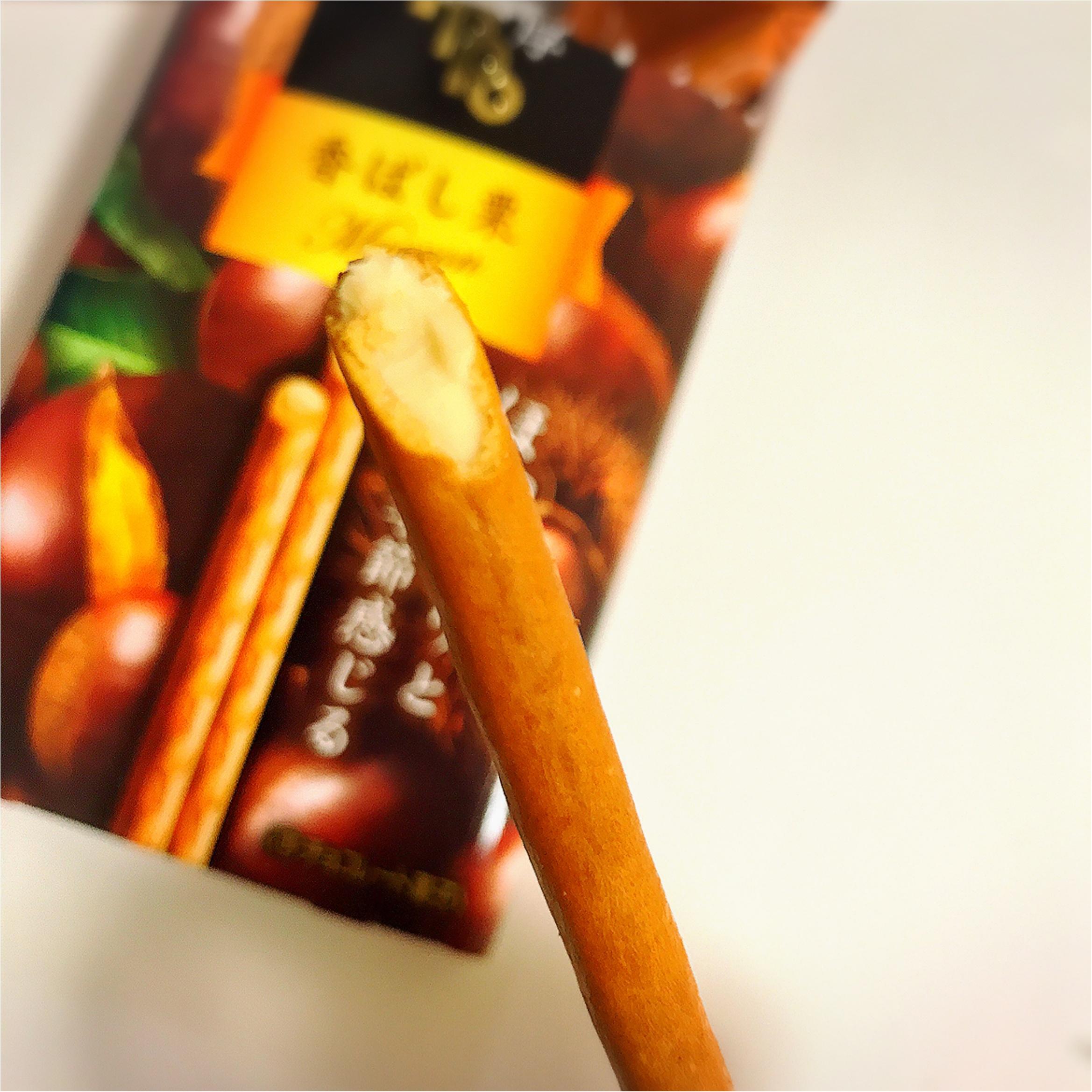 コンビニお菓子で秋を先取りっ!【味わい濃厚Toppo〈香ばし栗〉】がおいしすぎる♡_2