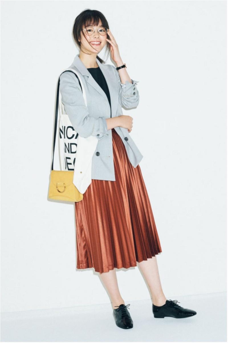 ジャケット,バッグ,二個もち,プリーツスカート,唐田えりか