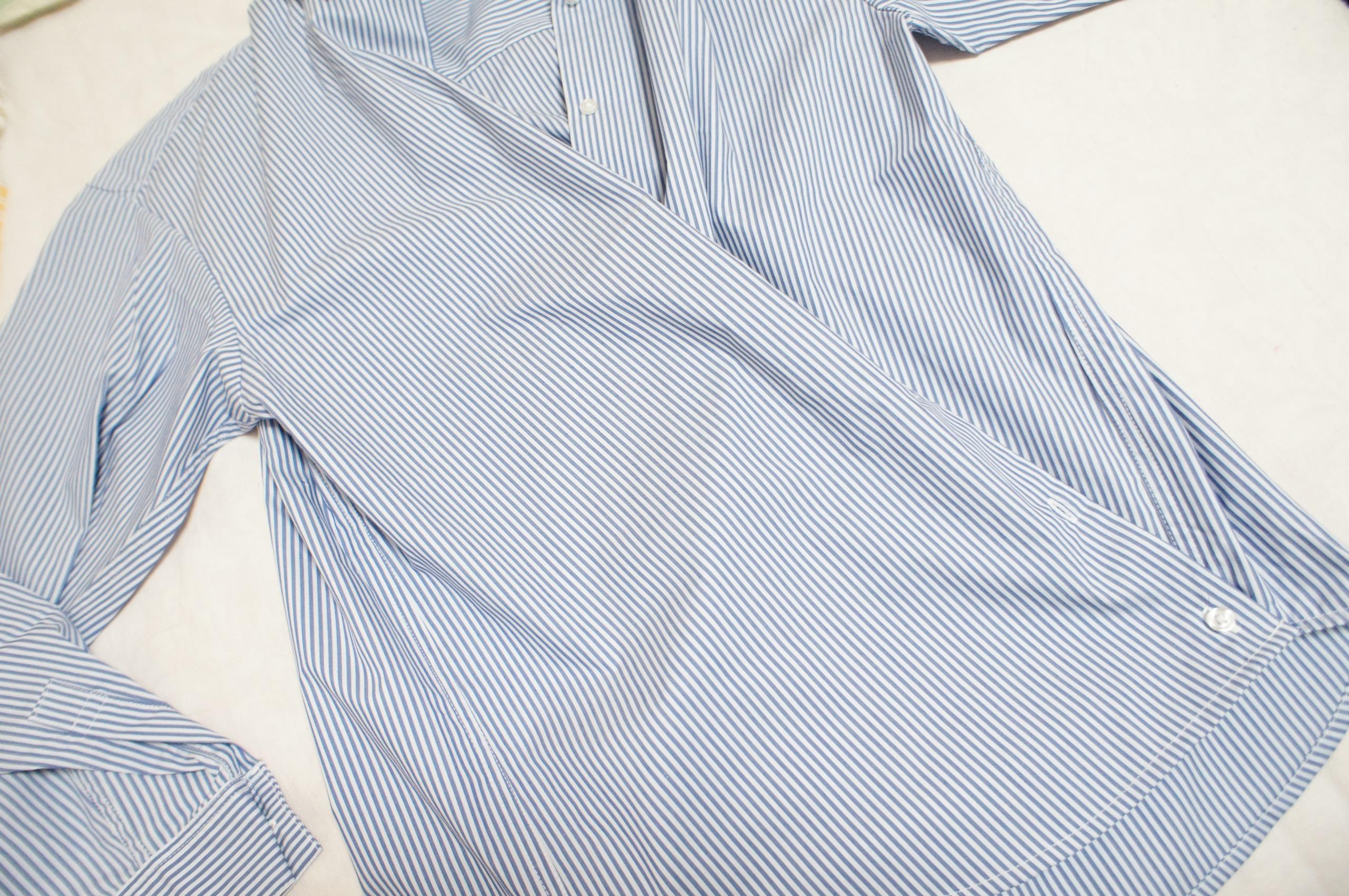 《今買って春まで使える❤️》【GU】の初売りセールで買った2WAYストライプオーバーサイズシャツが優秀☻_3