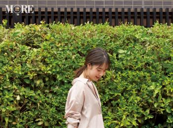 【今日のコーデ】<唐田えりか>三連休初日はドライブデート♡ シャツワンピースのワントーンコーデで大人可愛く