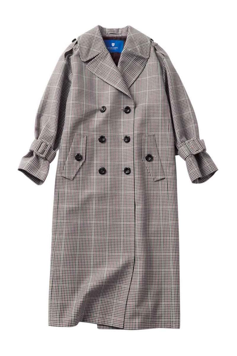 ブルーレーベルクレストブリッジのチェック柄コート