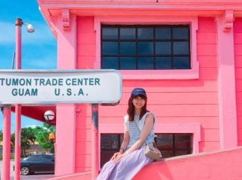 インスタで話題の「ピンクの壁」!グアムで写真映えするタモントレードセンターがオススメスポットです♡