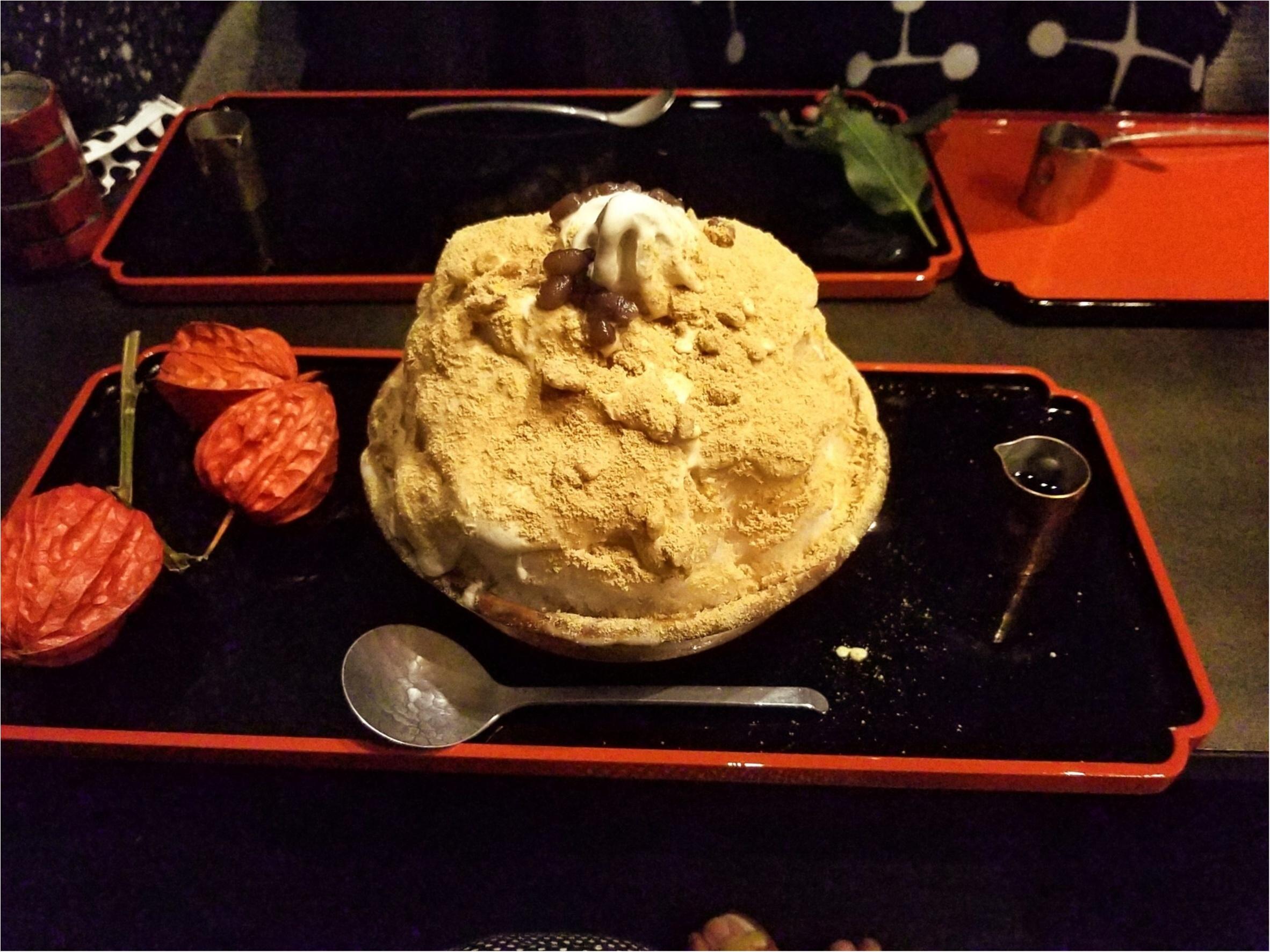 【至高の逸品!!】オトナの甘味を堪能する『黒蜜きな粉かき氷ソフト』♡♡@厨otonaくろぎ_1